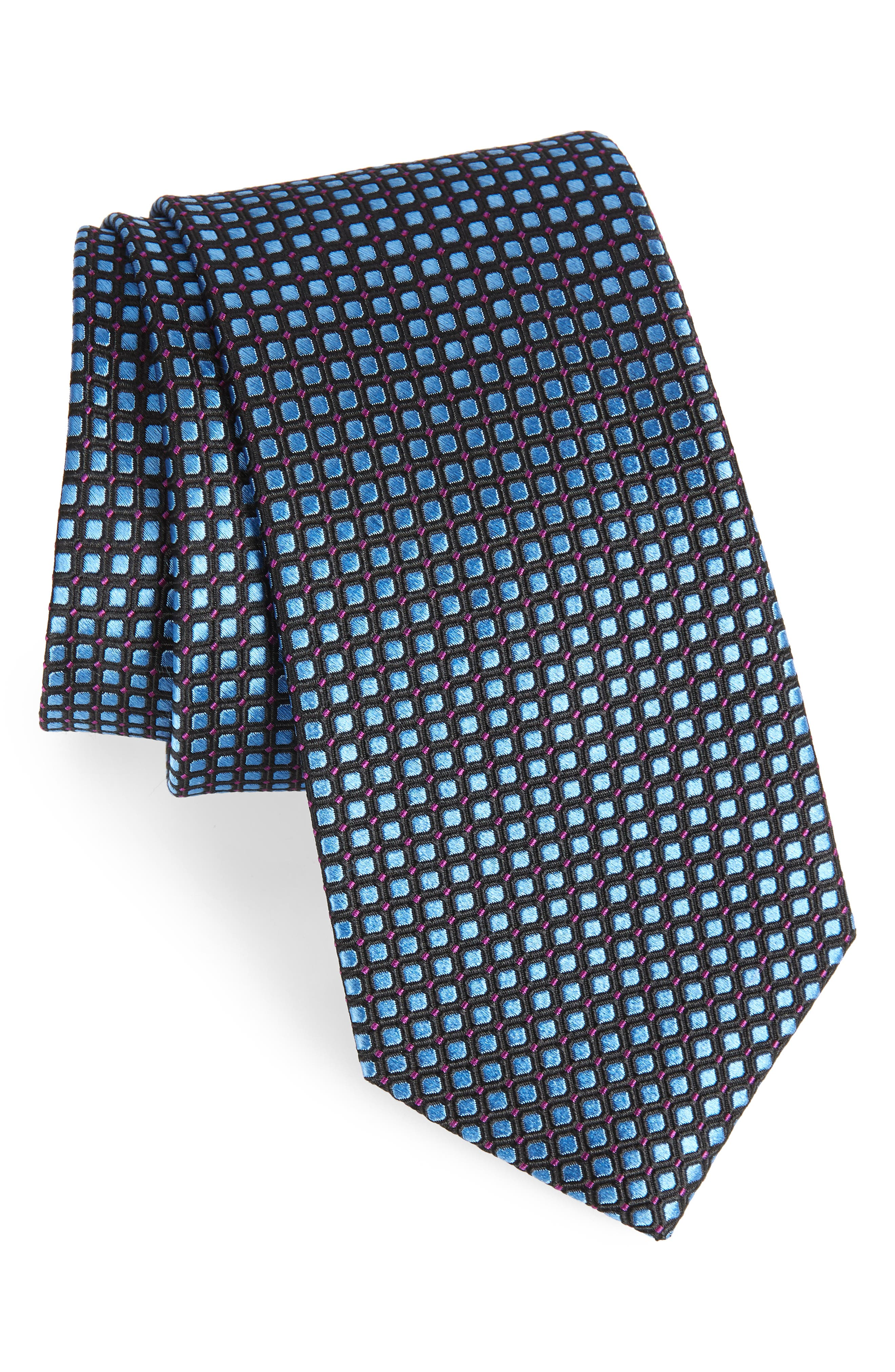 Main Image - Nordstrom Men's Shop Laguna Check Silk Tie
