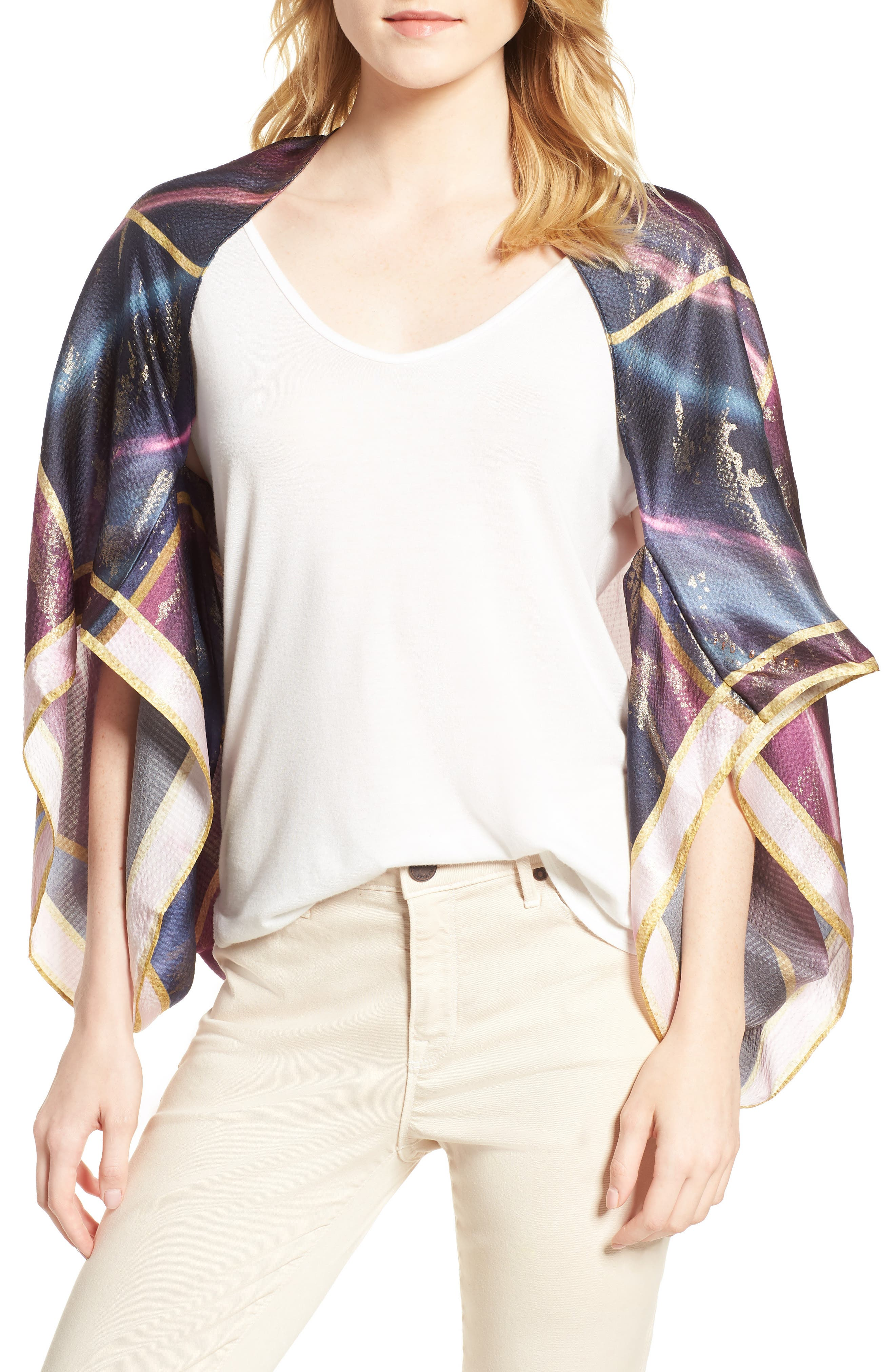 Ted Baker London Balmoral Marble Silk Scarf