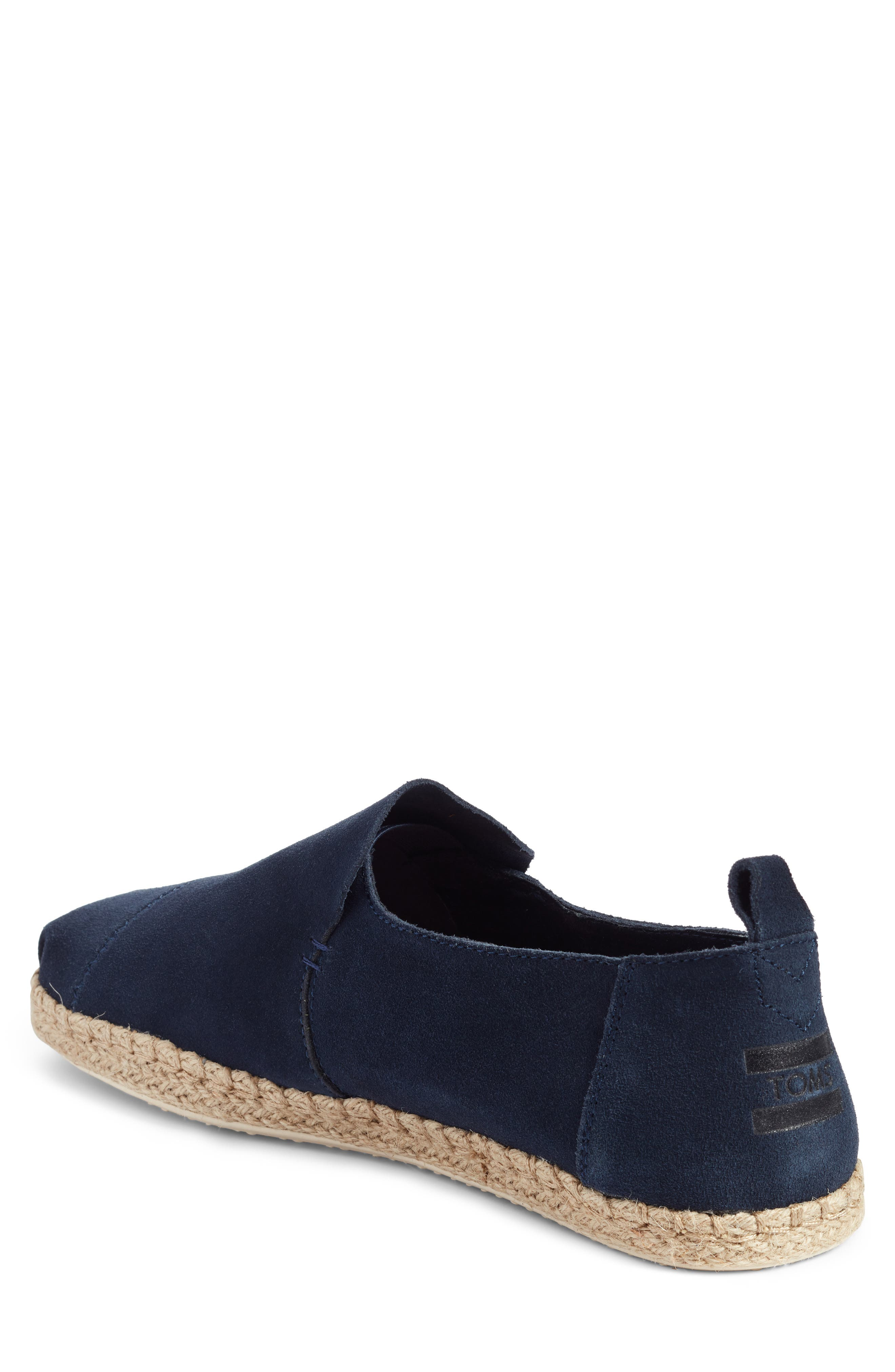 Deconstructed Alpargata,                             Alternate thumbnail 2, color,                             Navy Suede