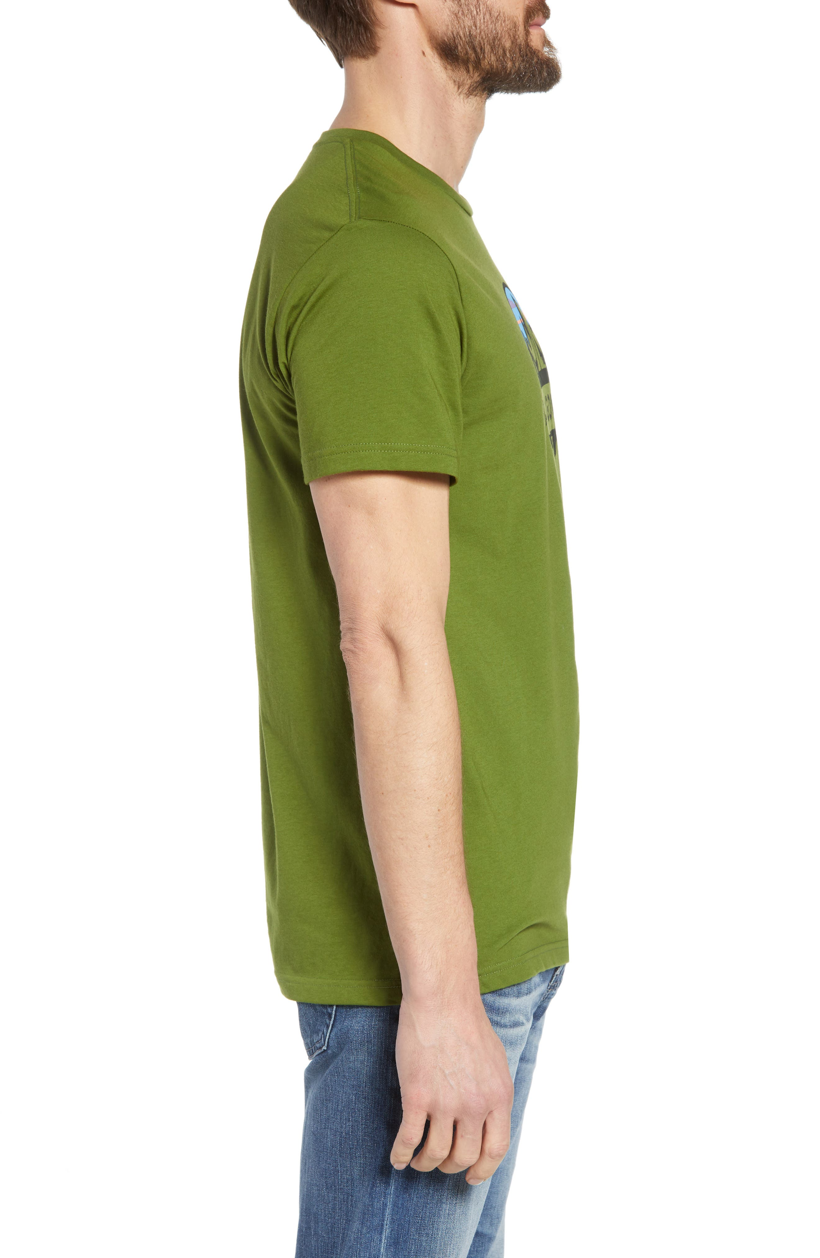 Fitz Roy Scope Crewneck T-Shirt,                             Alternate thumbnail 3, color,                             Sprouted Green
