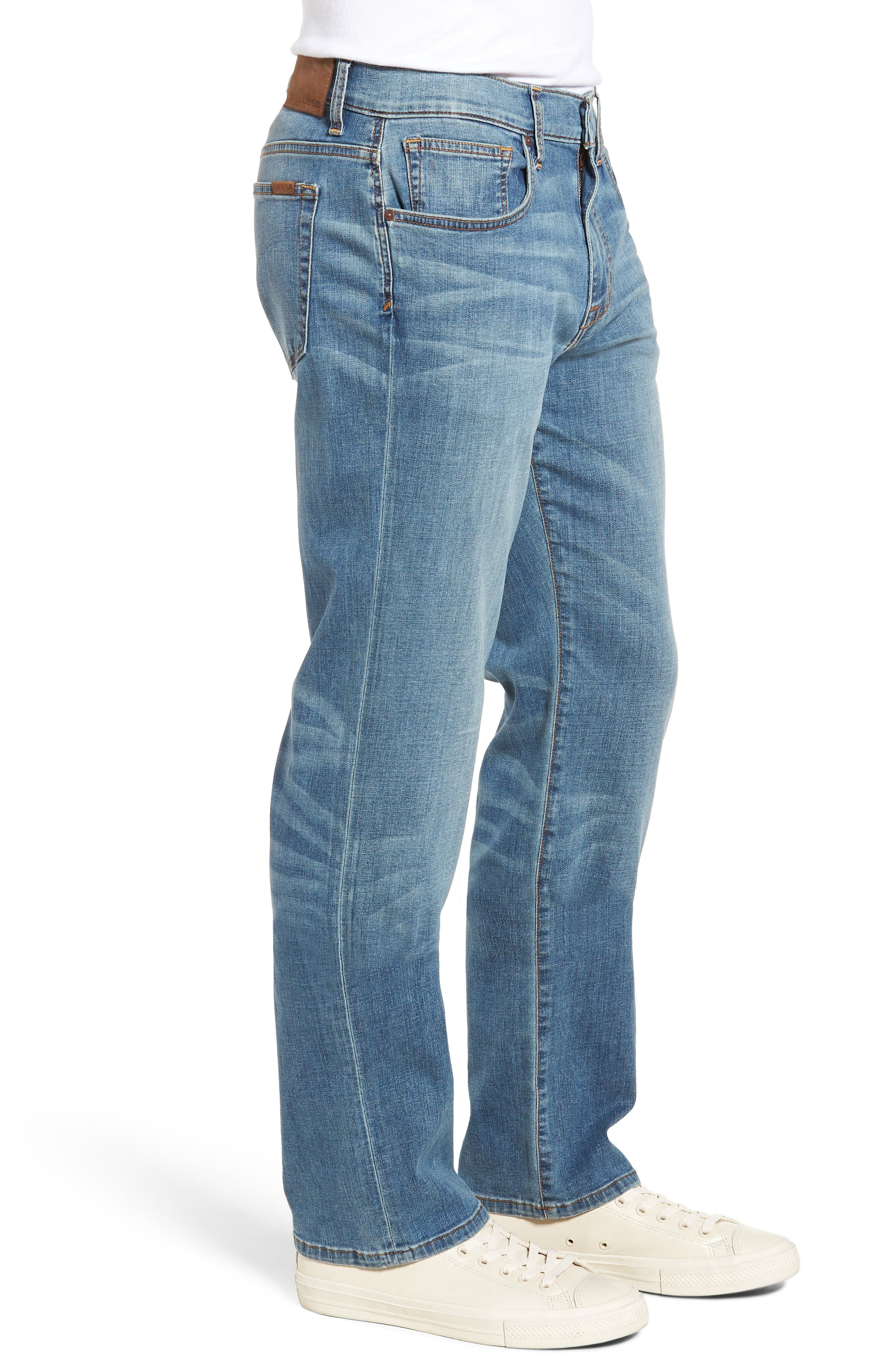 Classic Straight Fit Jeans,                             Alternate thumbnail 3, color,                             Redding