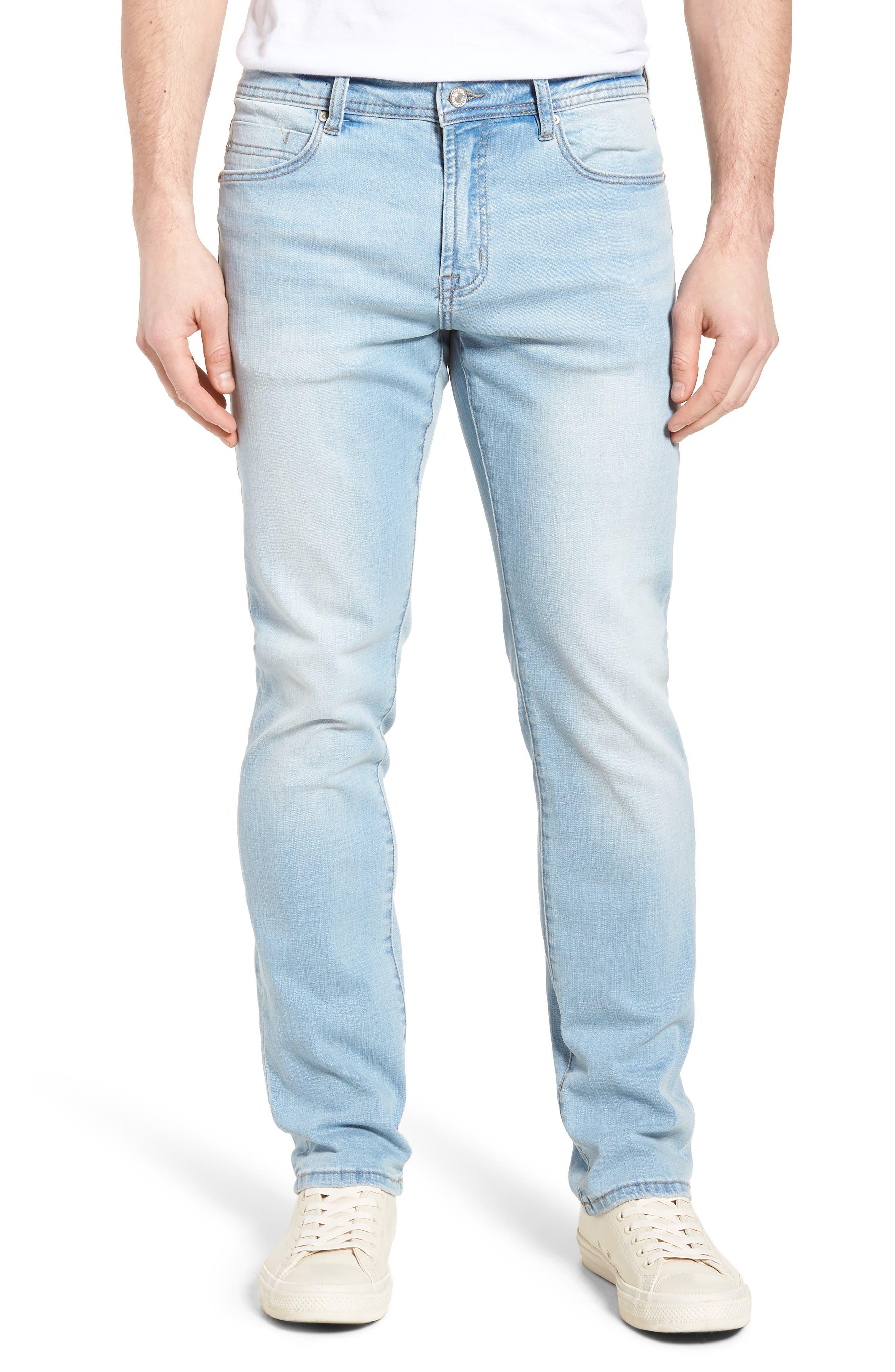 Jeans Co. Straight Leg Jeans,                             Main thumbnail 1, color,                             Riverside Light