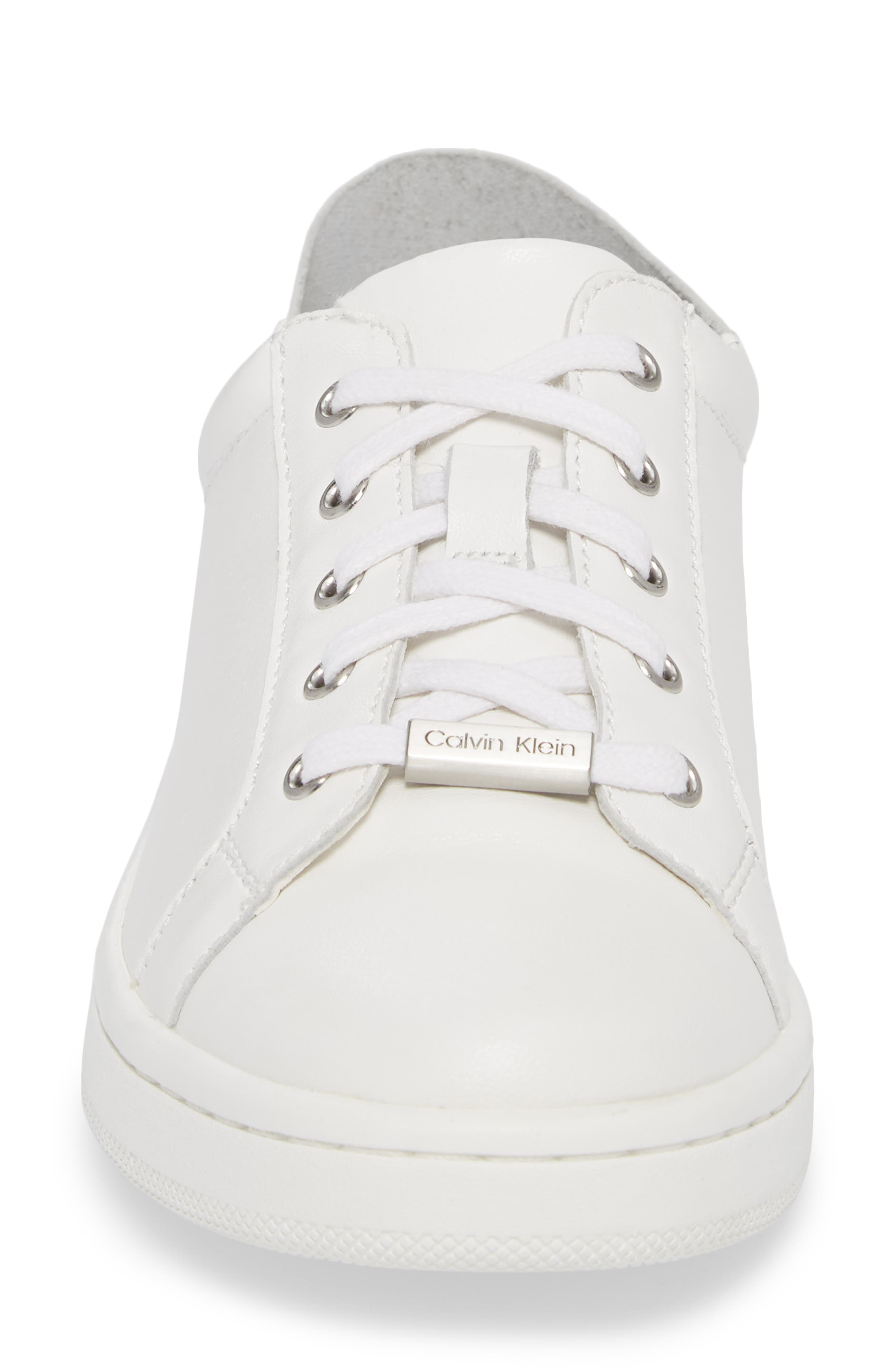 Danica Convertible Sneaker,                             Alternate thumbnail 5, color,                             White/ White Leather
