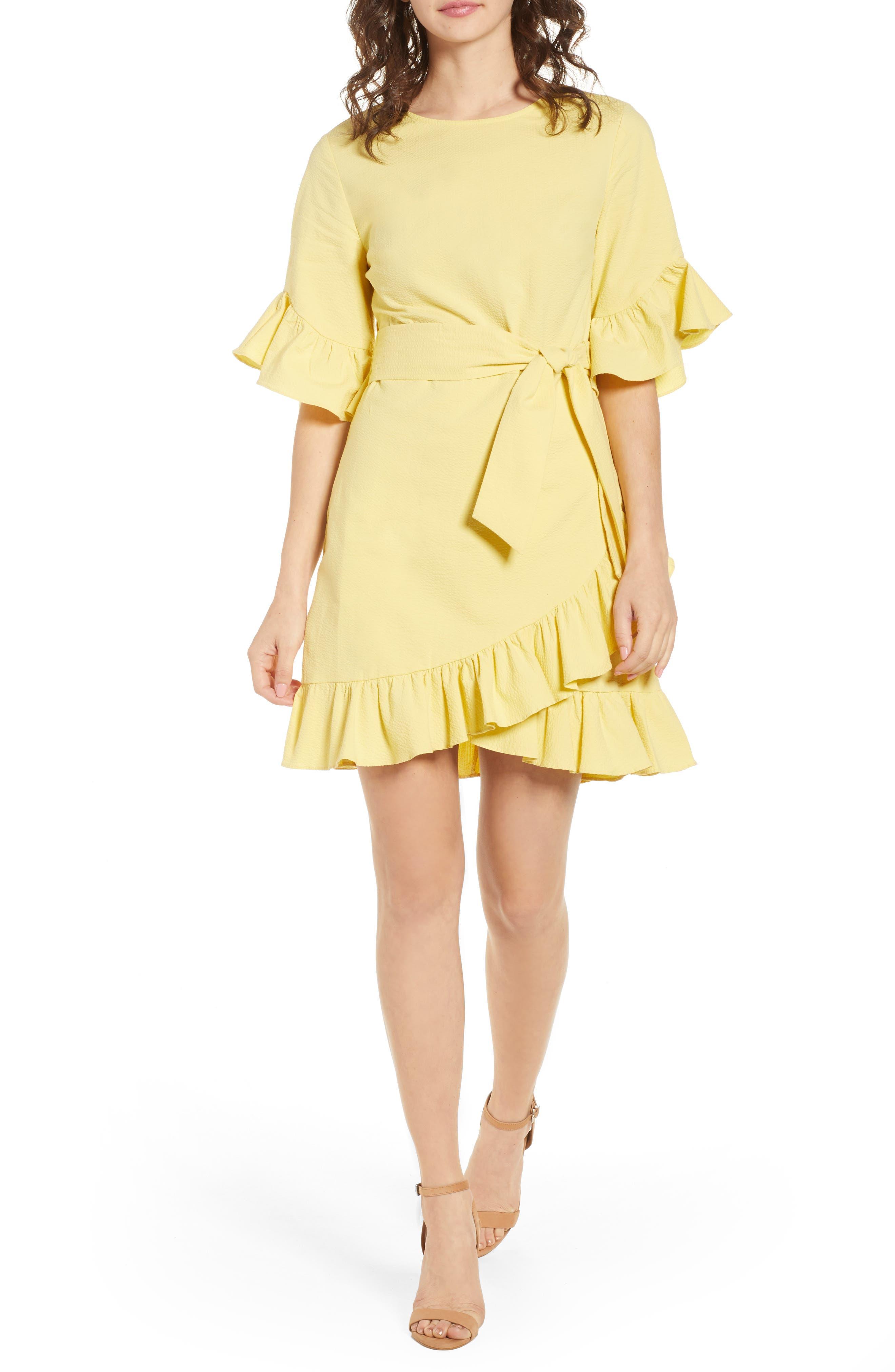 1.STATE Ruffle Skirt Dress