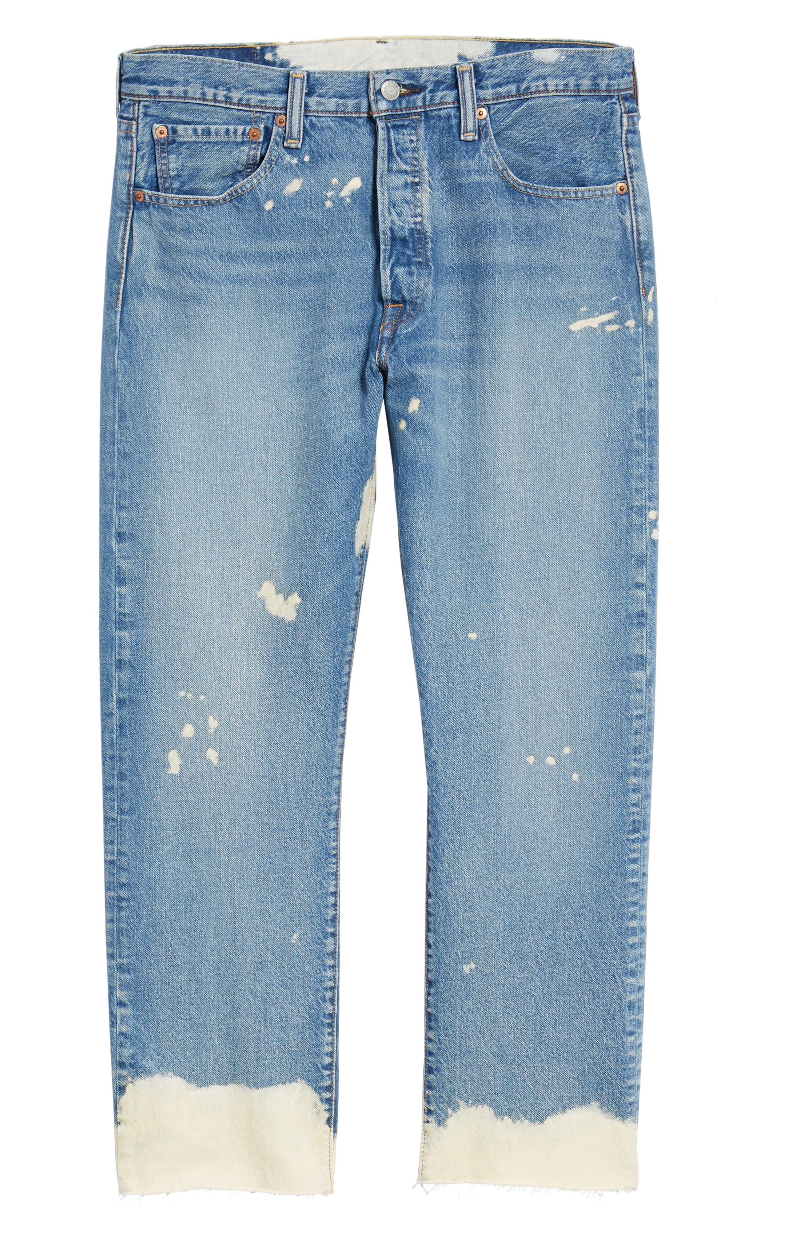 501<sup>®</sup> Original Straight Leg Cutoff Jeans,                             Alternate thumbnail 6, color,                             Baez