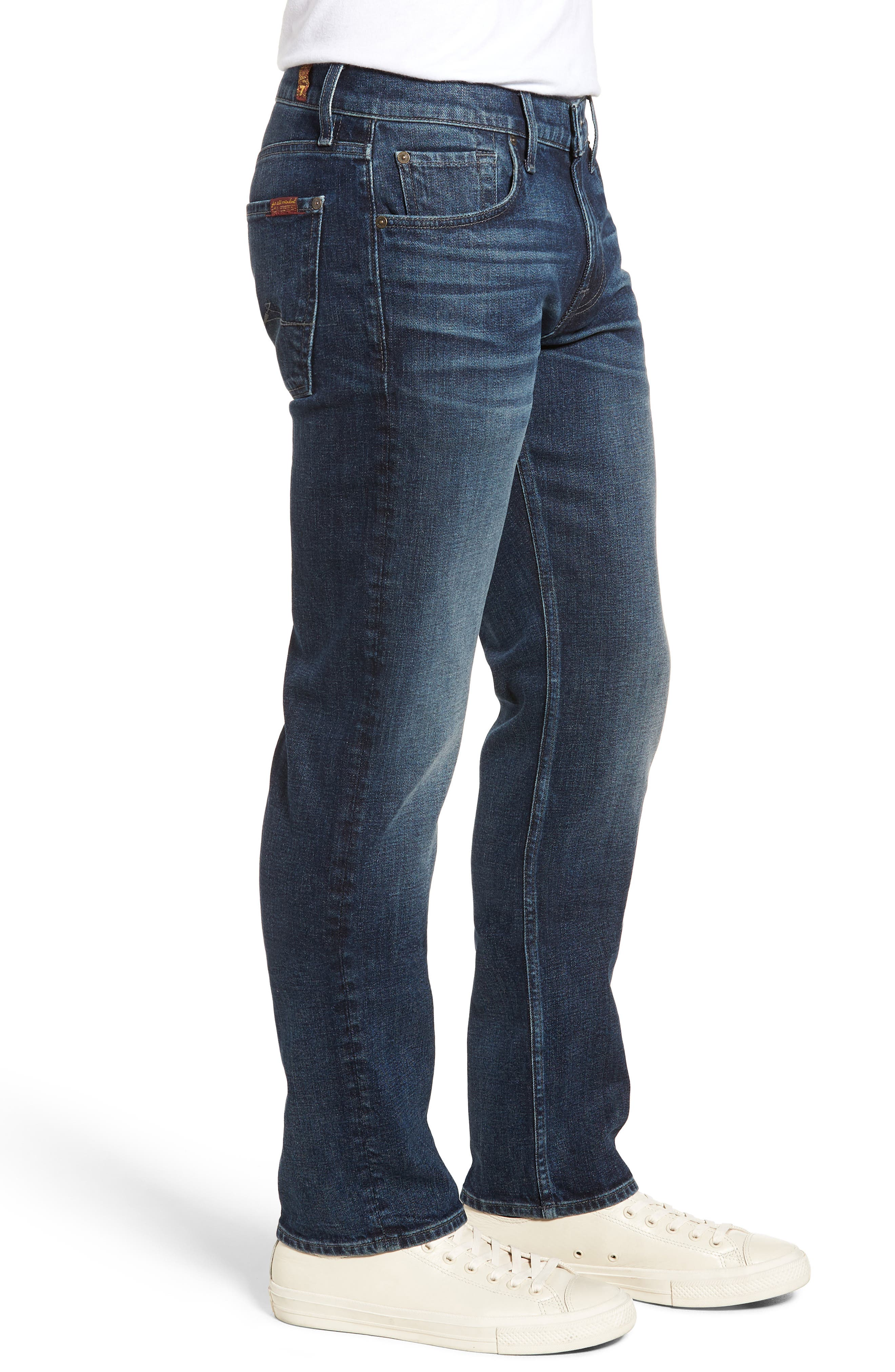 The Standard Straight Leg Jeans,                             Alternate thumbnail 3, color,                             Untouchable