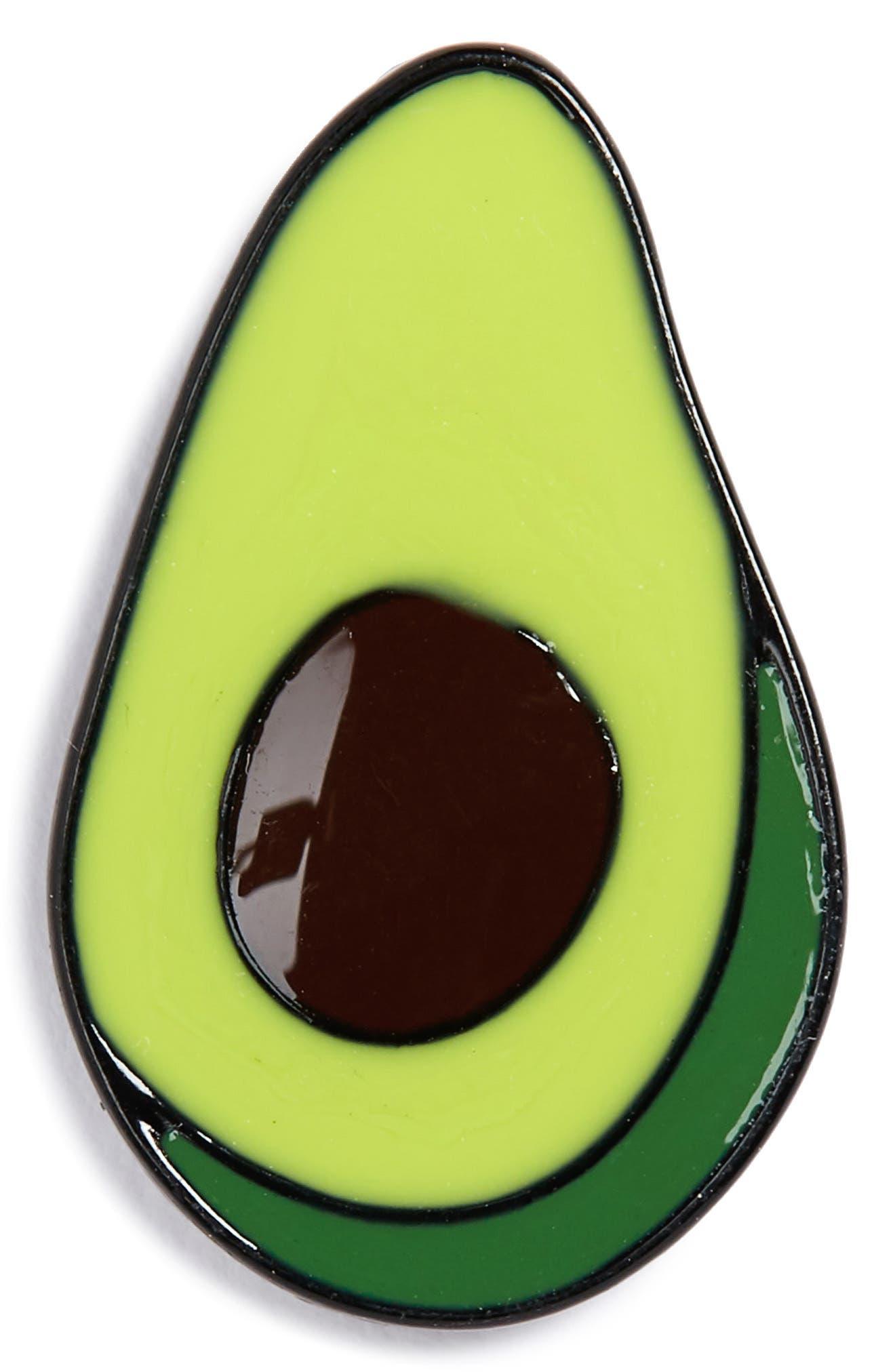 Avocado Pin,                             Main thumbnail 1, color,                             Silver