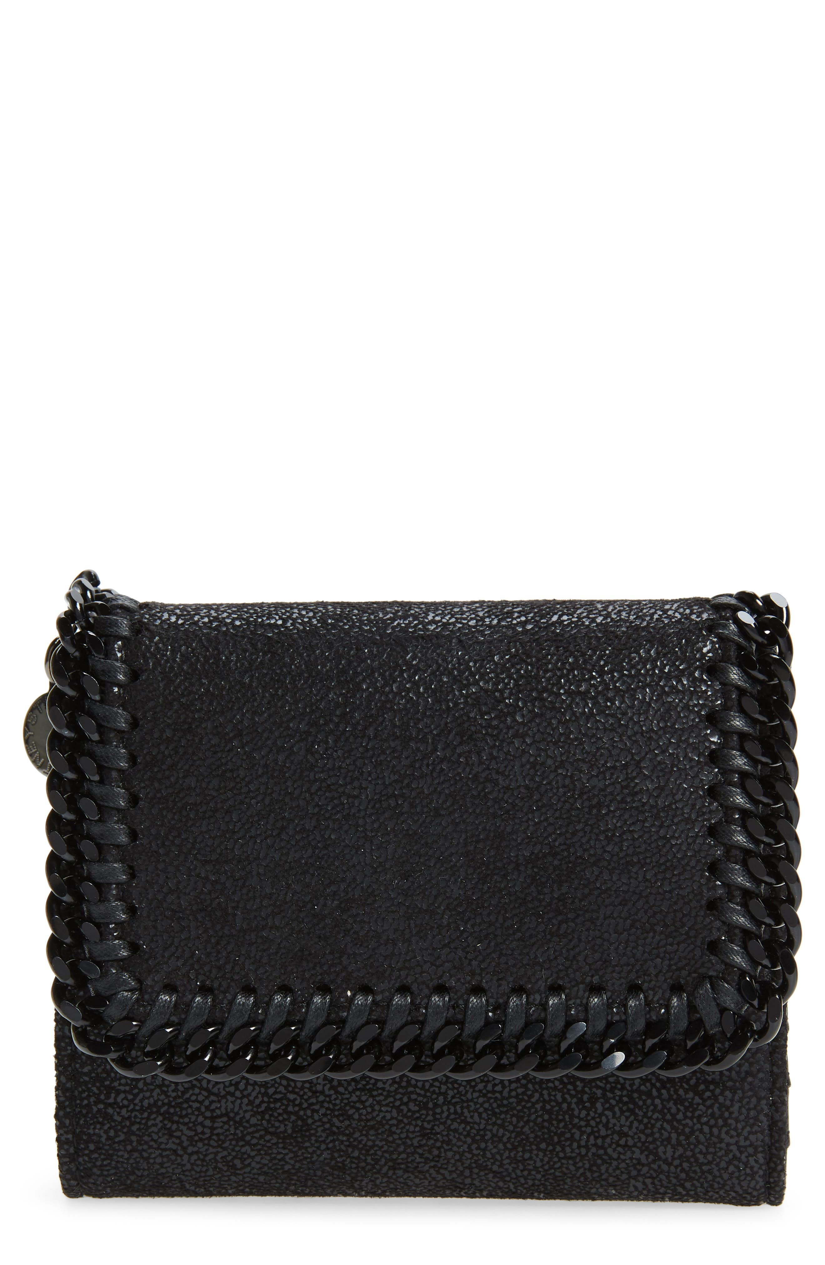 Stella McCartney Falabella Faux Leather Shaggy Deer Wallet