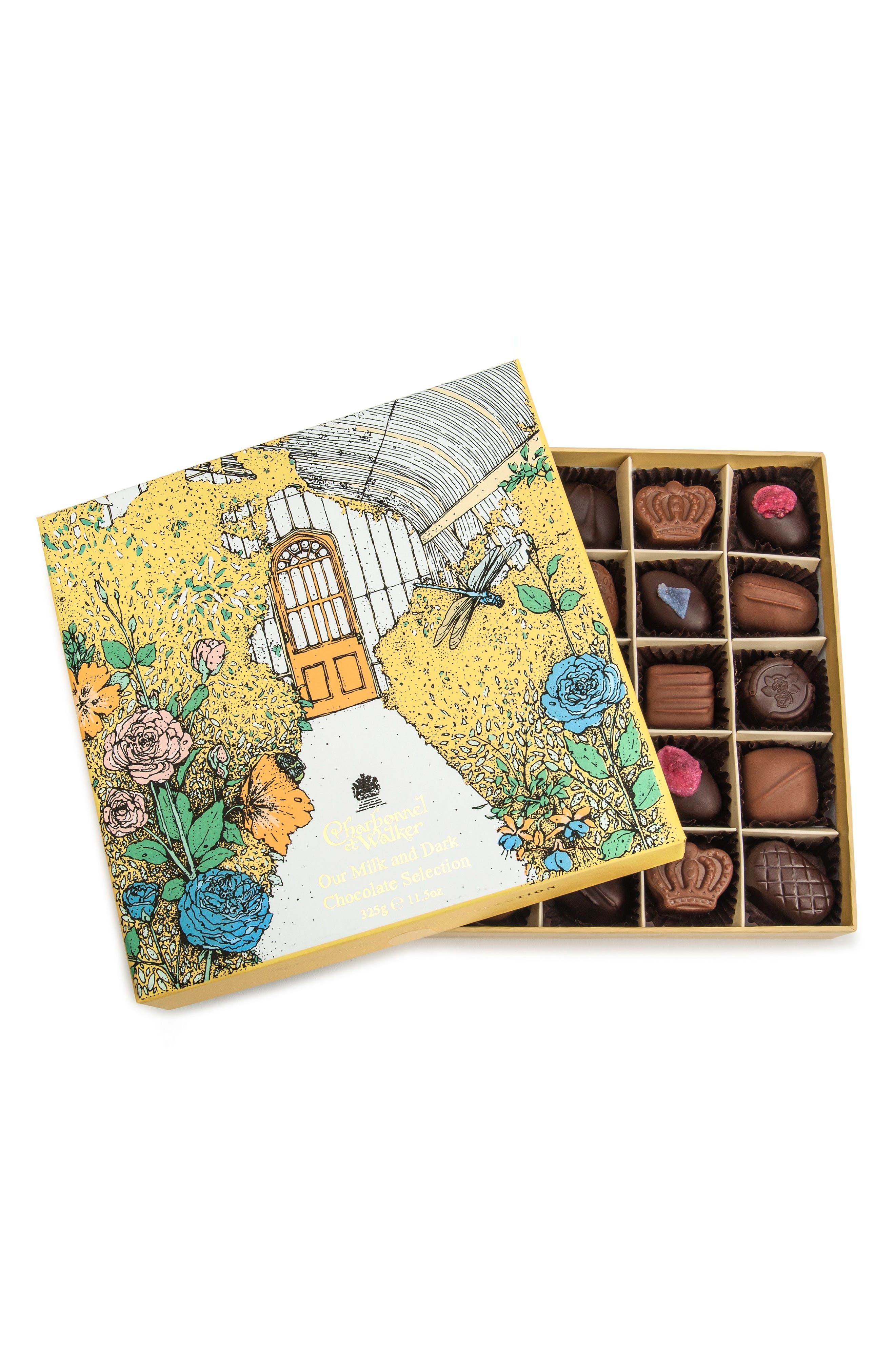 Summer House 25-Piece Chocolate Gift Box,                             Main thumbnail 1, color,                             Yellow