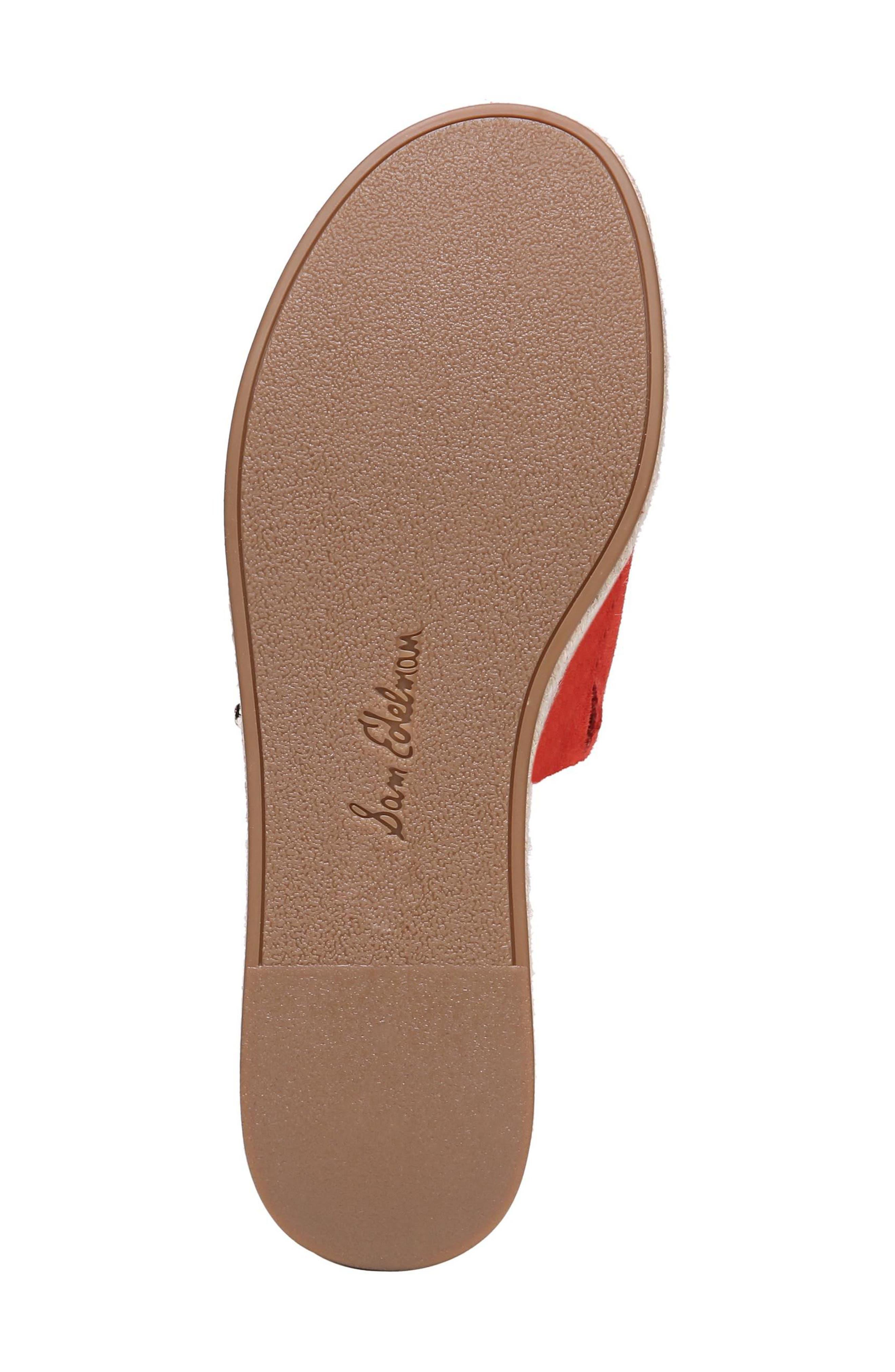 Weslee Platform Slide Sandal,                             Alternate thumbnail 6, color,                             Candy Red Suede