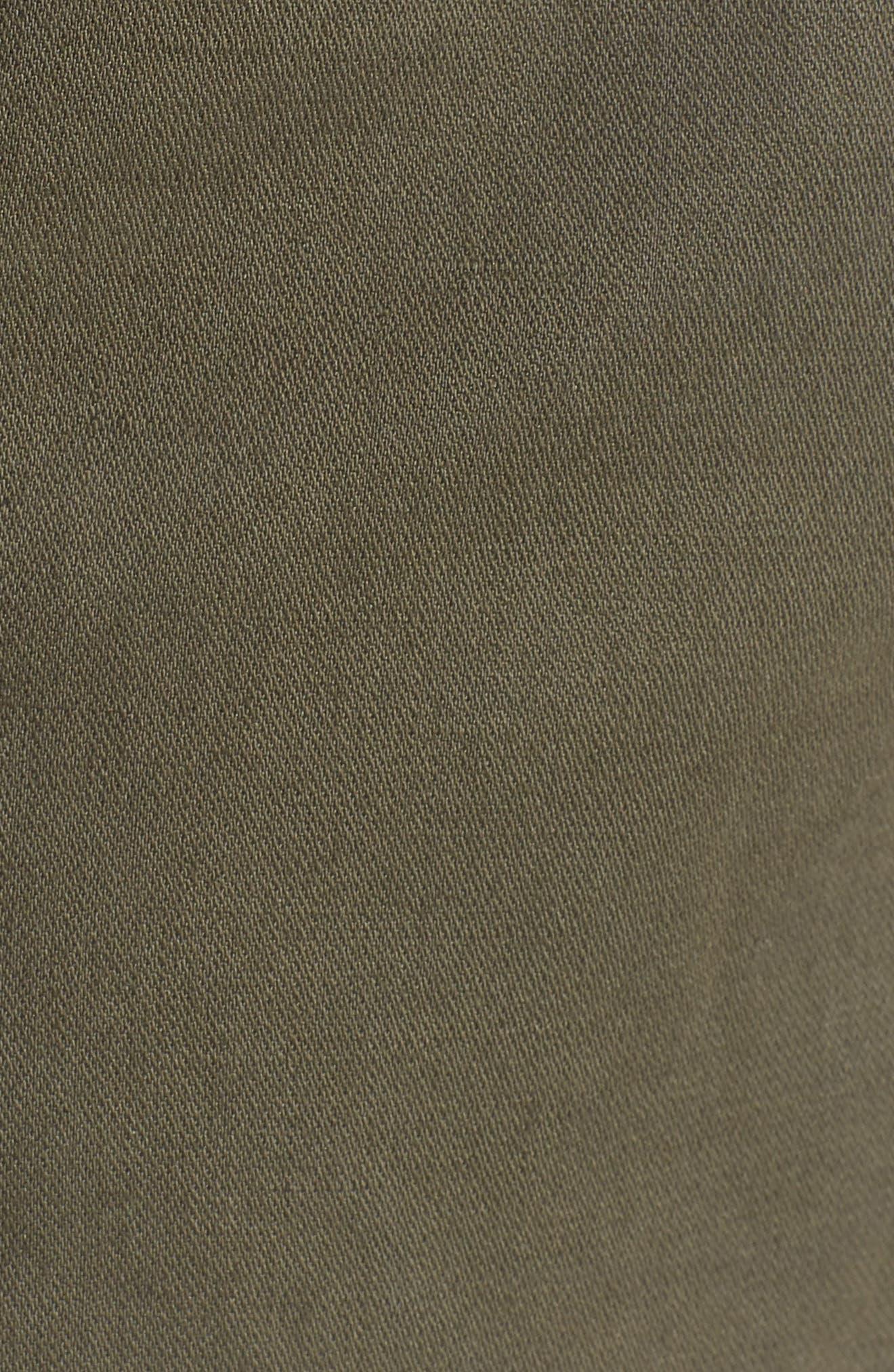 Drawstring Cotton Shorts,                             Alternate thumbnail 5, color,                             Pine