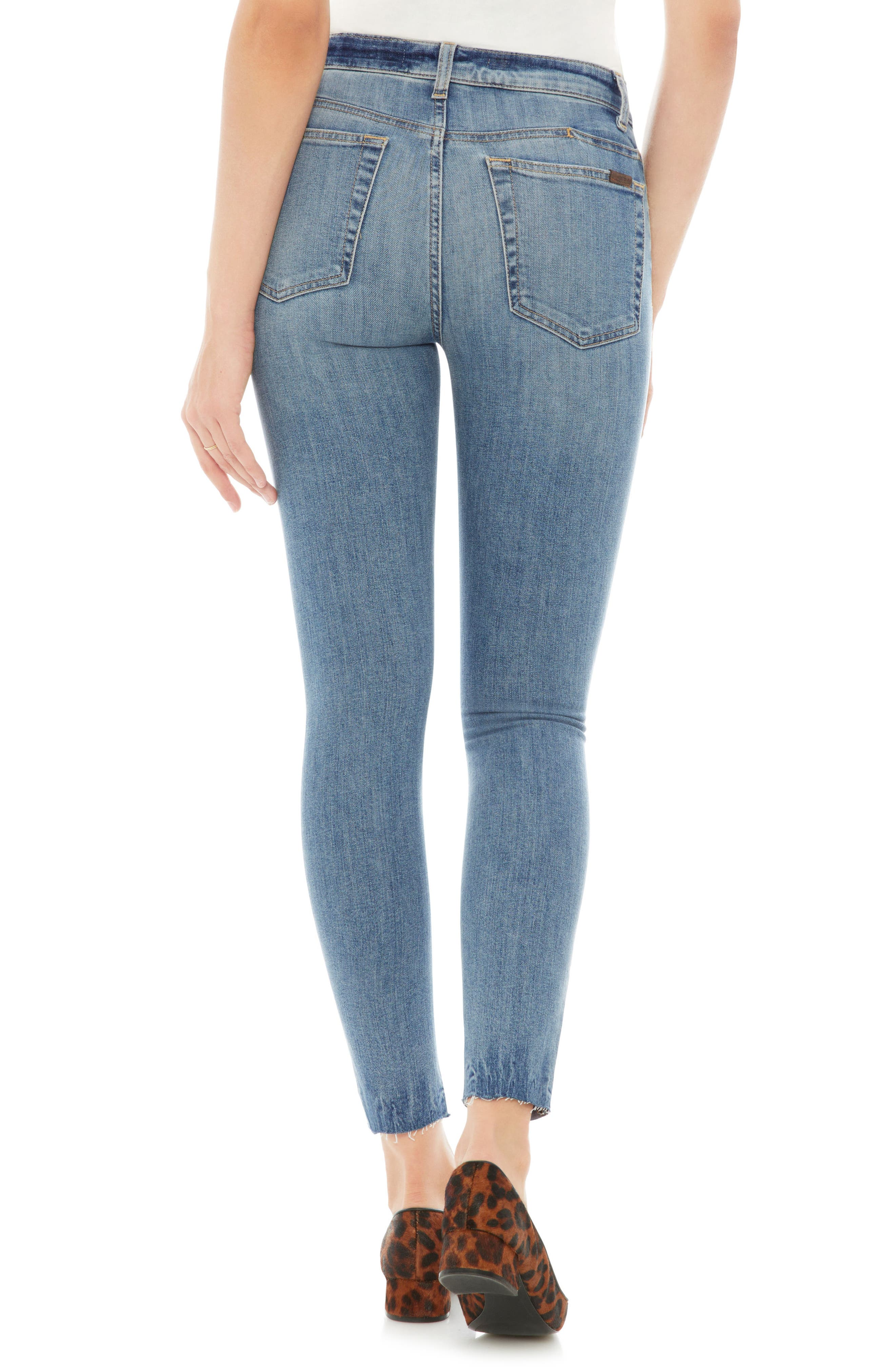 Charlie Raw Hem Ankle Skinny Jeans,                             Alternate thumbnail 2, color,                             Ridley