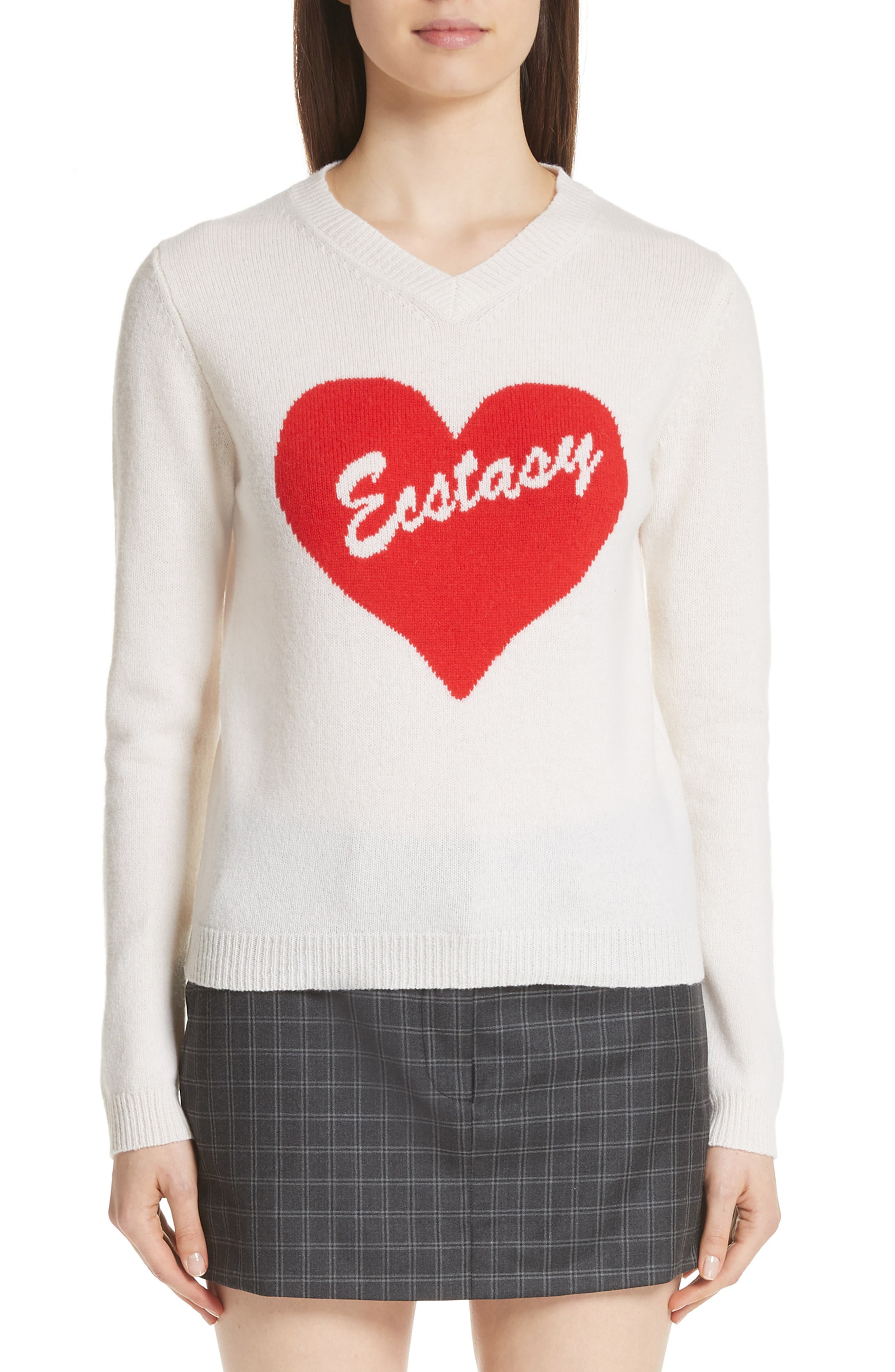 Ecstasy Wool Sweater,                         Main,                         color, White
