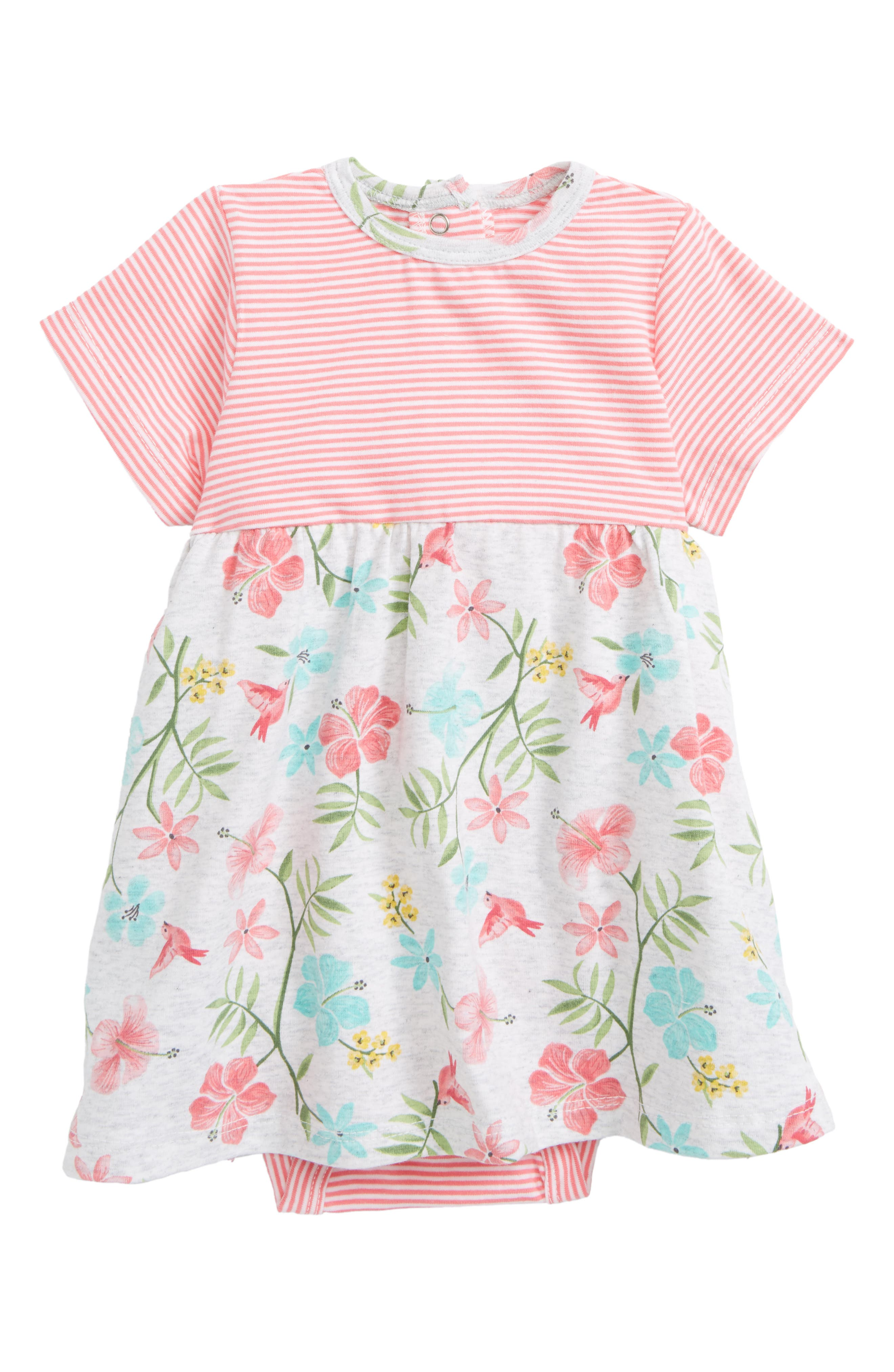 Offspring Tropical Floral Popover Bodysuit (Baby Girls)