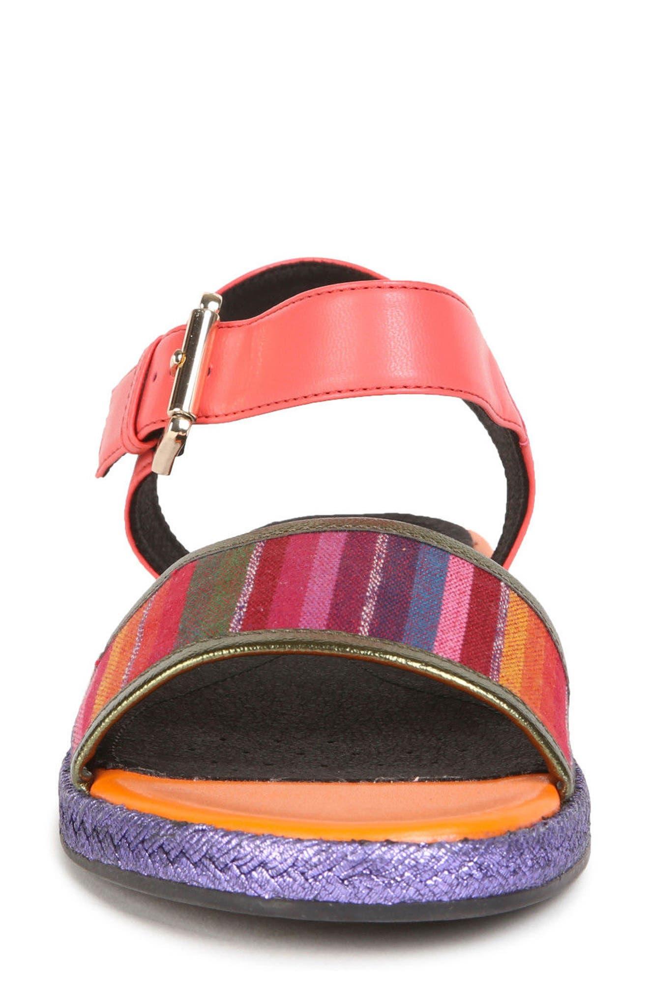Kolleen Sandal,                             Alternate thumbnail 4, color,                             Light Purple/ Coral