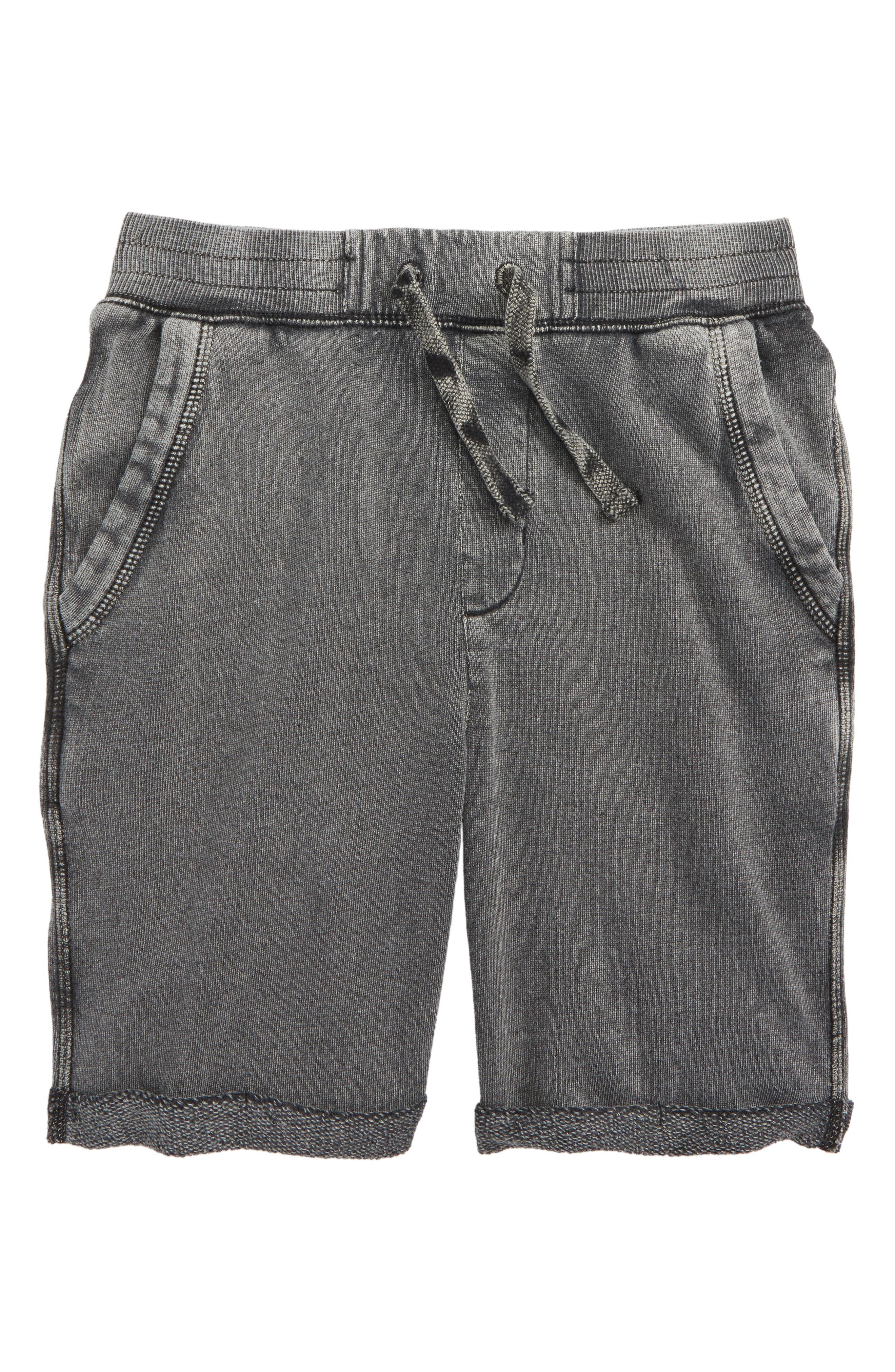 Fleece Shorts,                         Main,                         color, Black