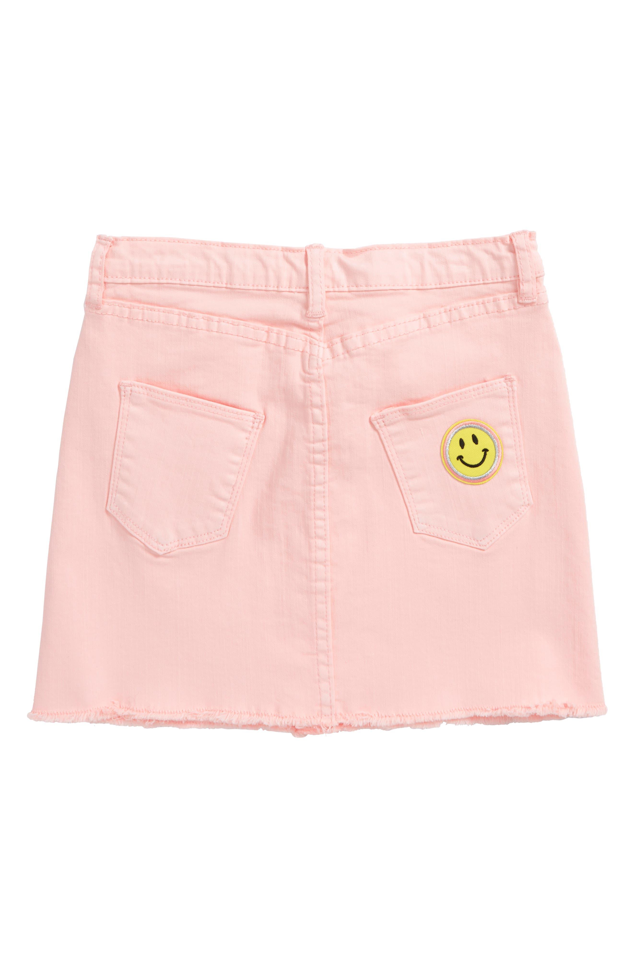 Flamingo Denim Skirt,                             Alternate thumbnail 2, color,                             Pink