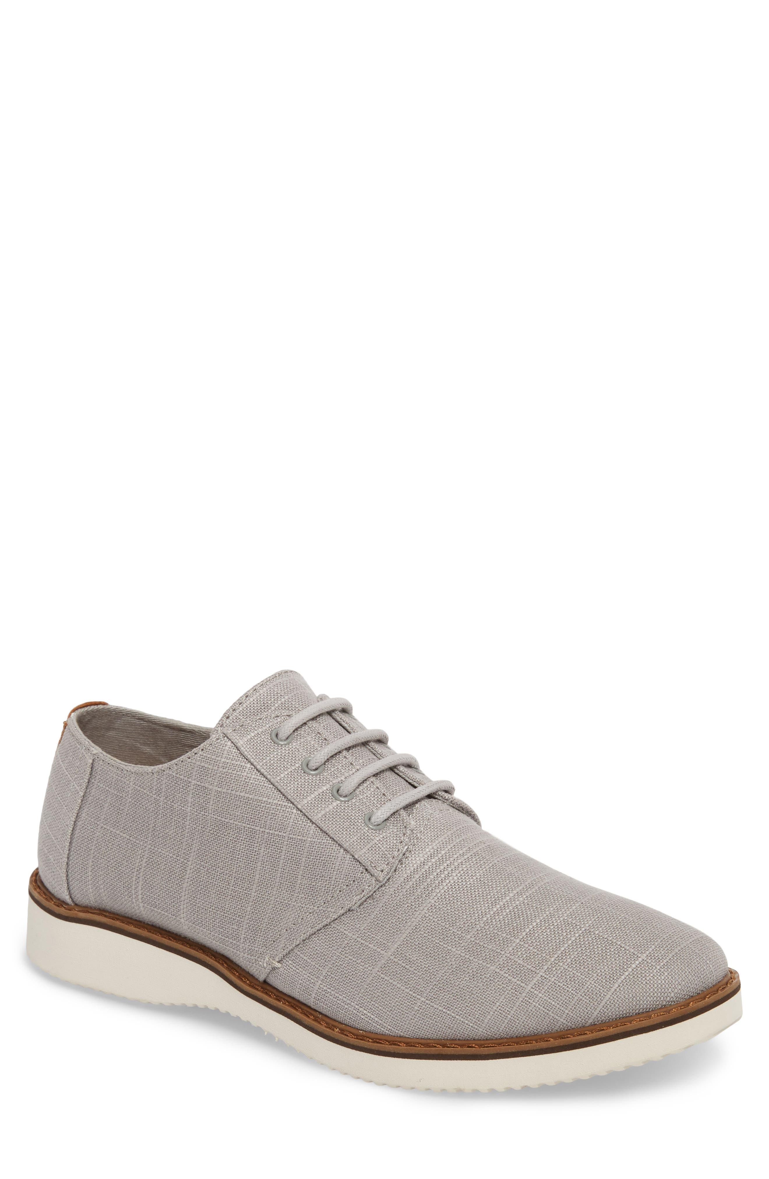 Preston Plain Toe Derby,                         Main,                         color, Grey Linen