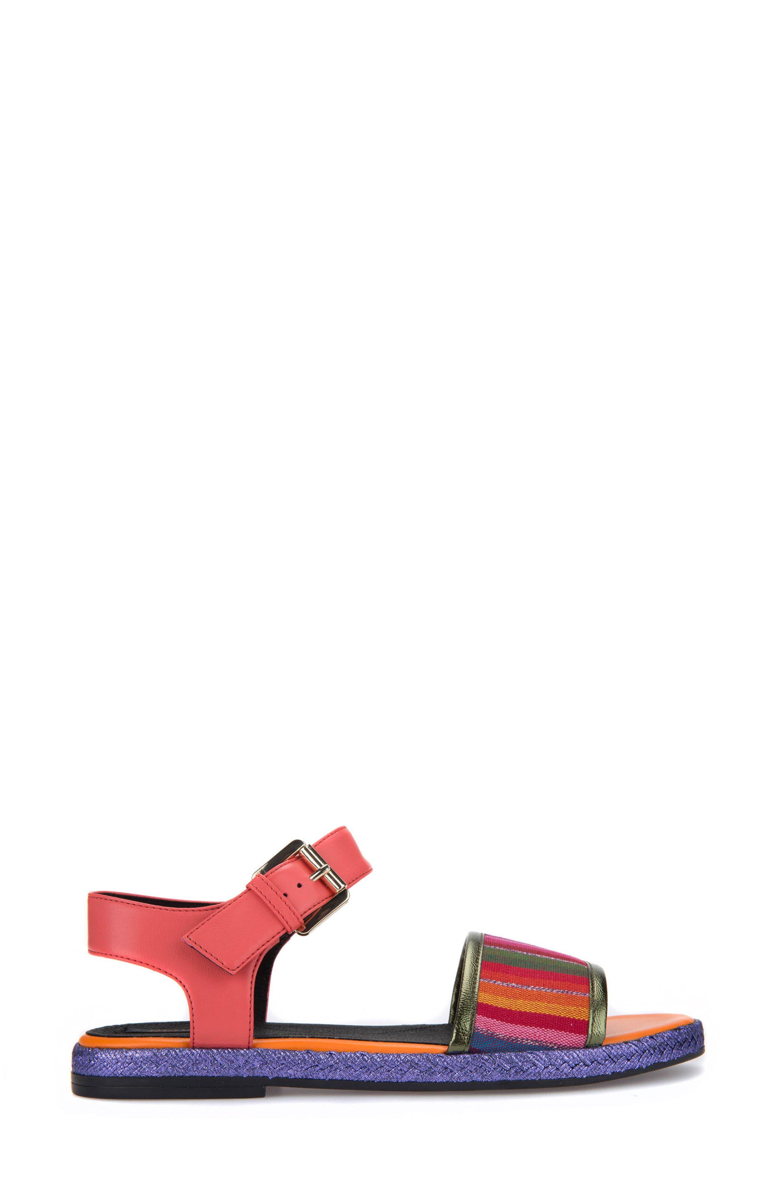 Kolleen Sandal,                             Alternate thumbnail 3, color,                             Light Purple/ Coral
