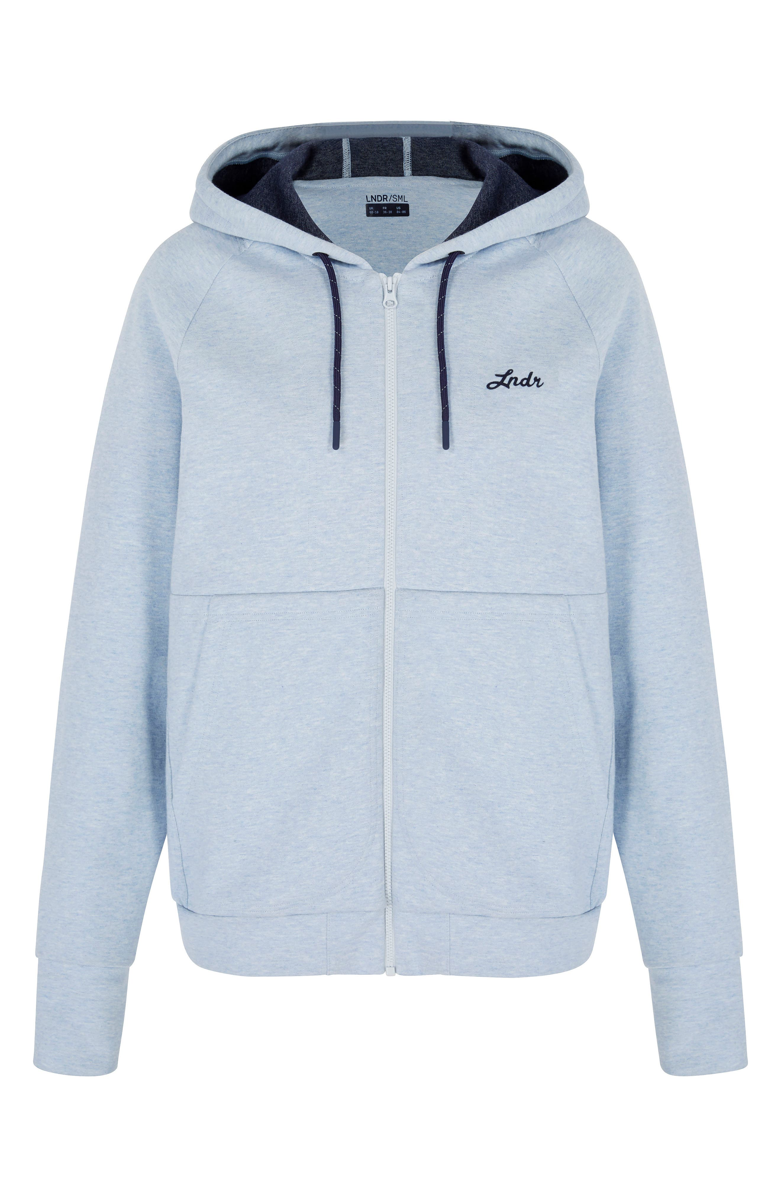 Synergy Zip-Up Hoodie,                             Alternate thumbnail 3, color,                             Light Blue
