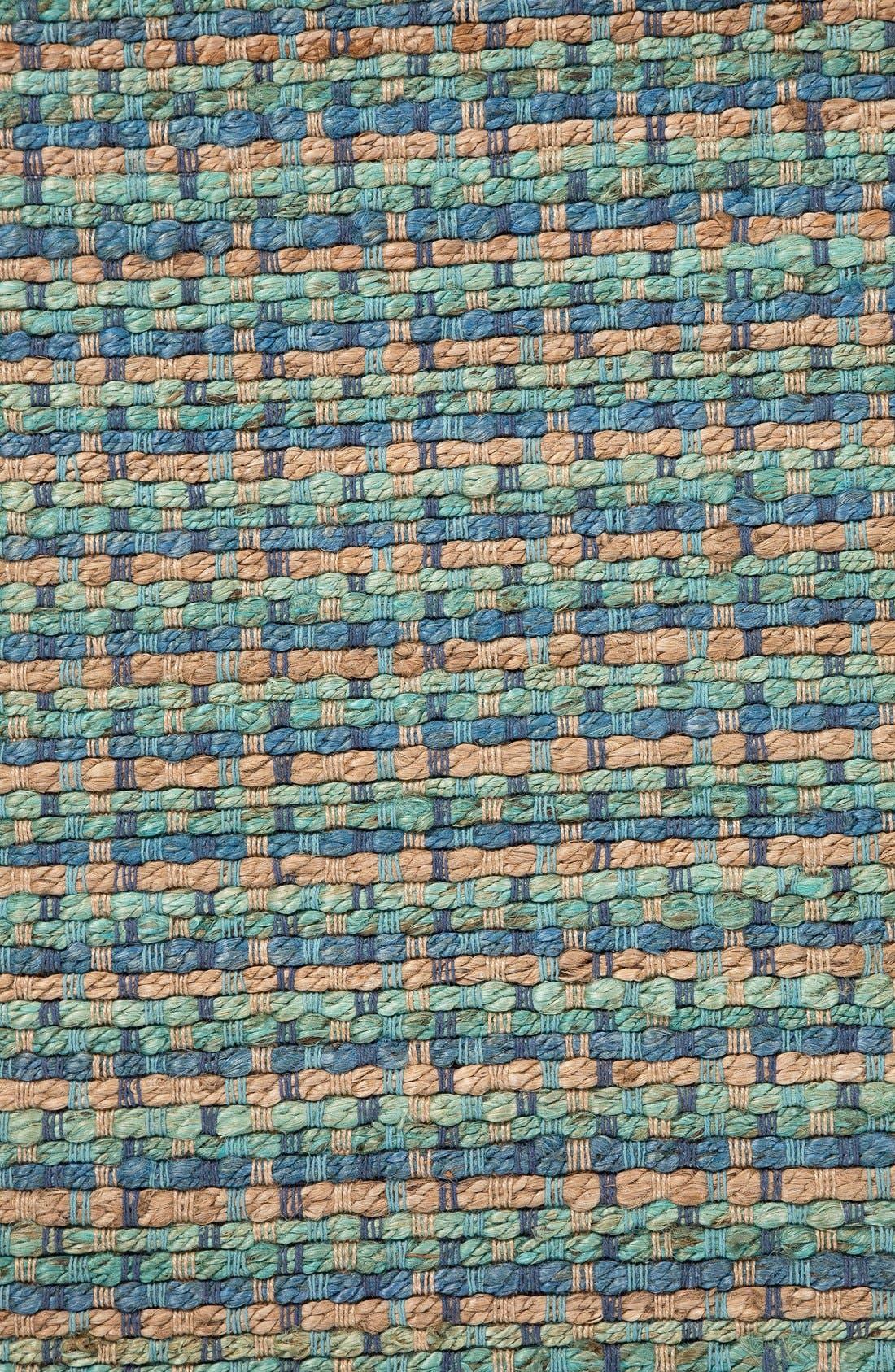 'Manchester' Jute & Cotton Accent Rug,                             Alternate thumbnail 2, color,                             Blue/ Taupe