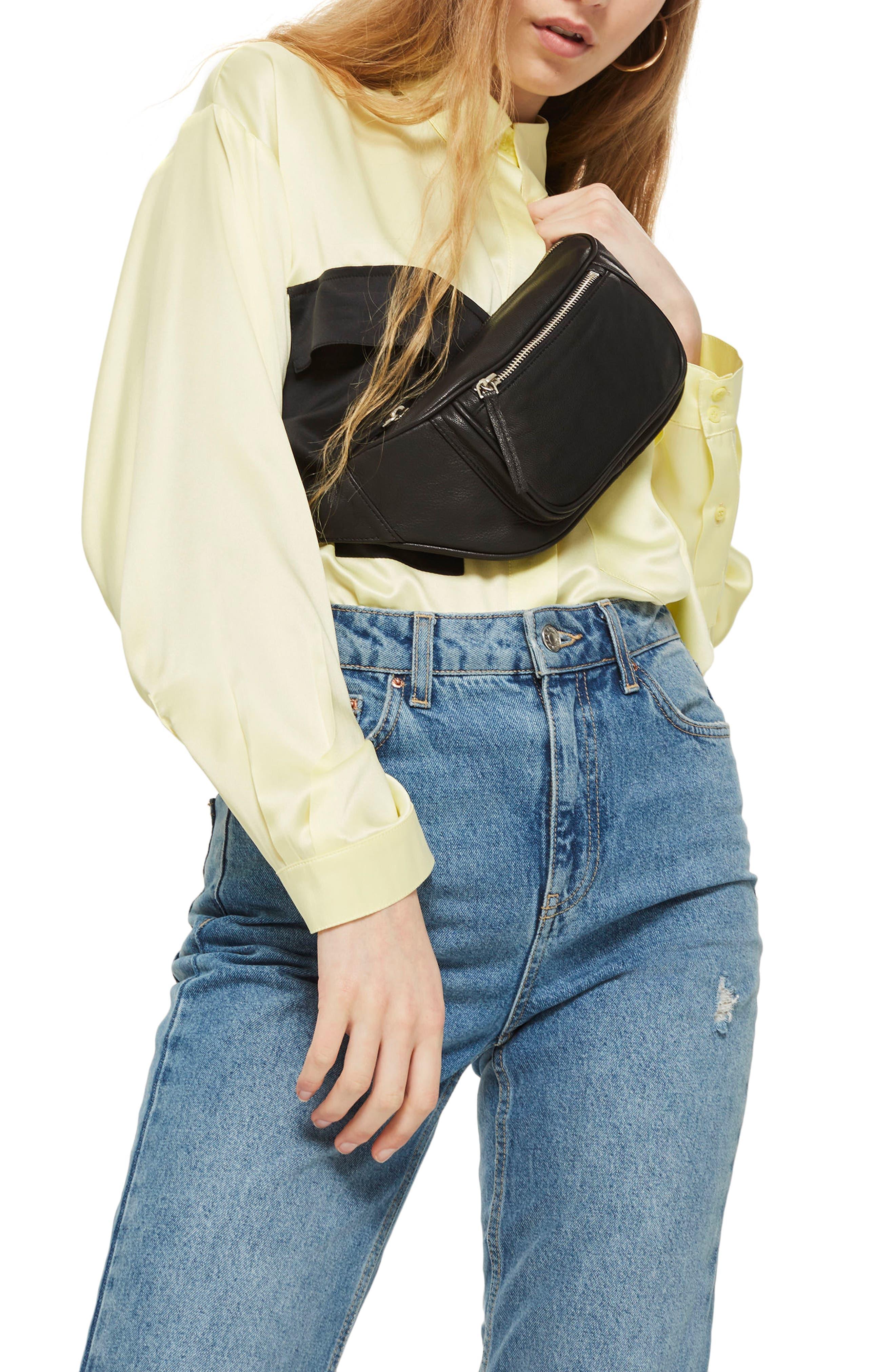 Alternate Image 2  - Topshop Leather Bumbag