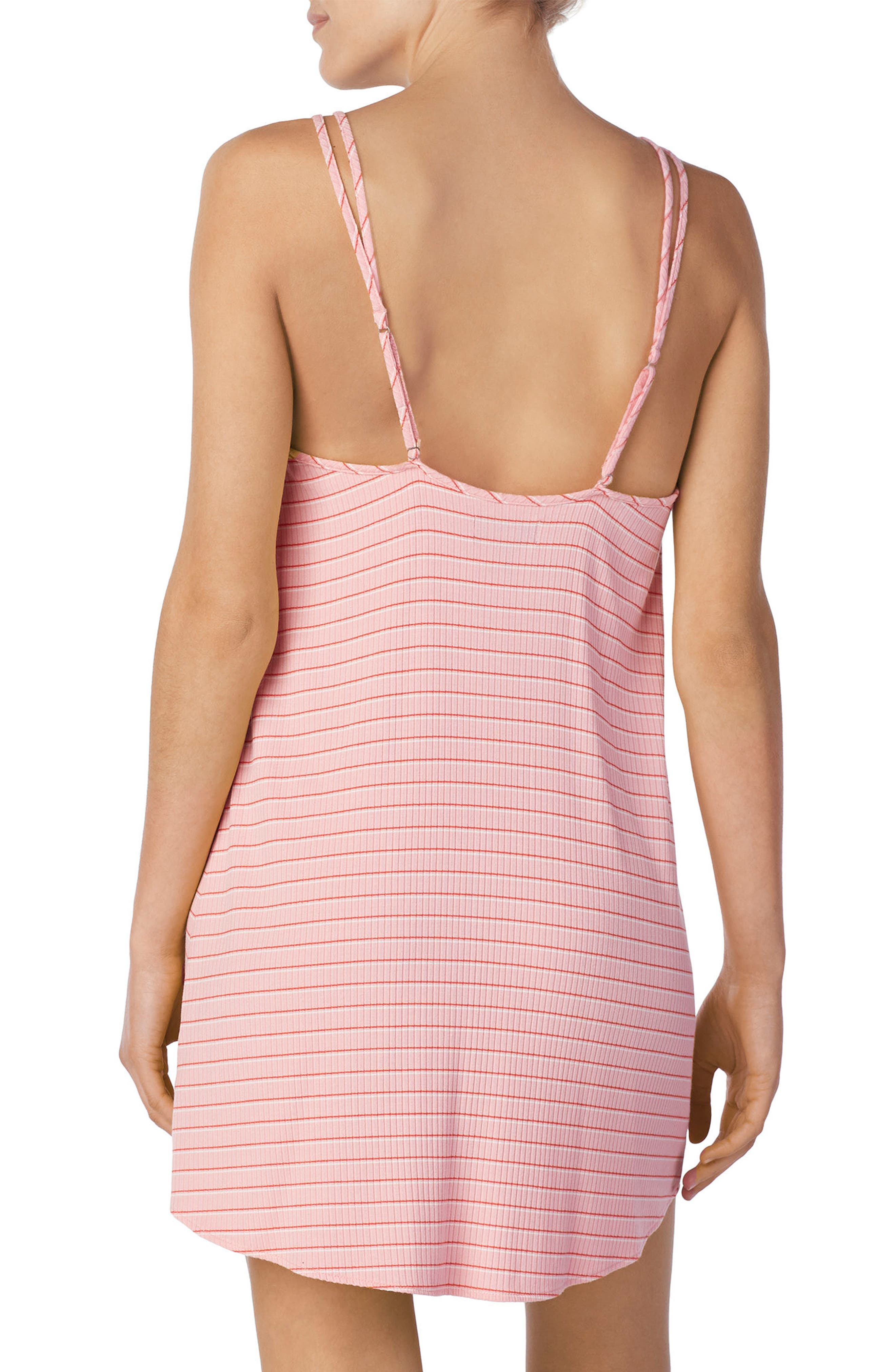 Stripe Chemise,                             Alternate thumbnail 2, color,                             Millennial Pink
