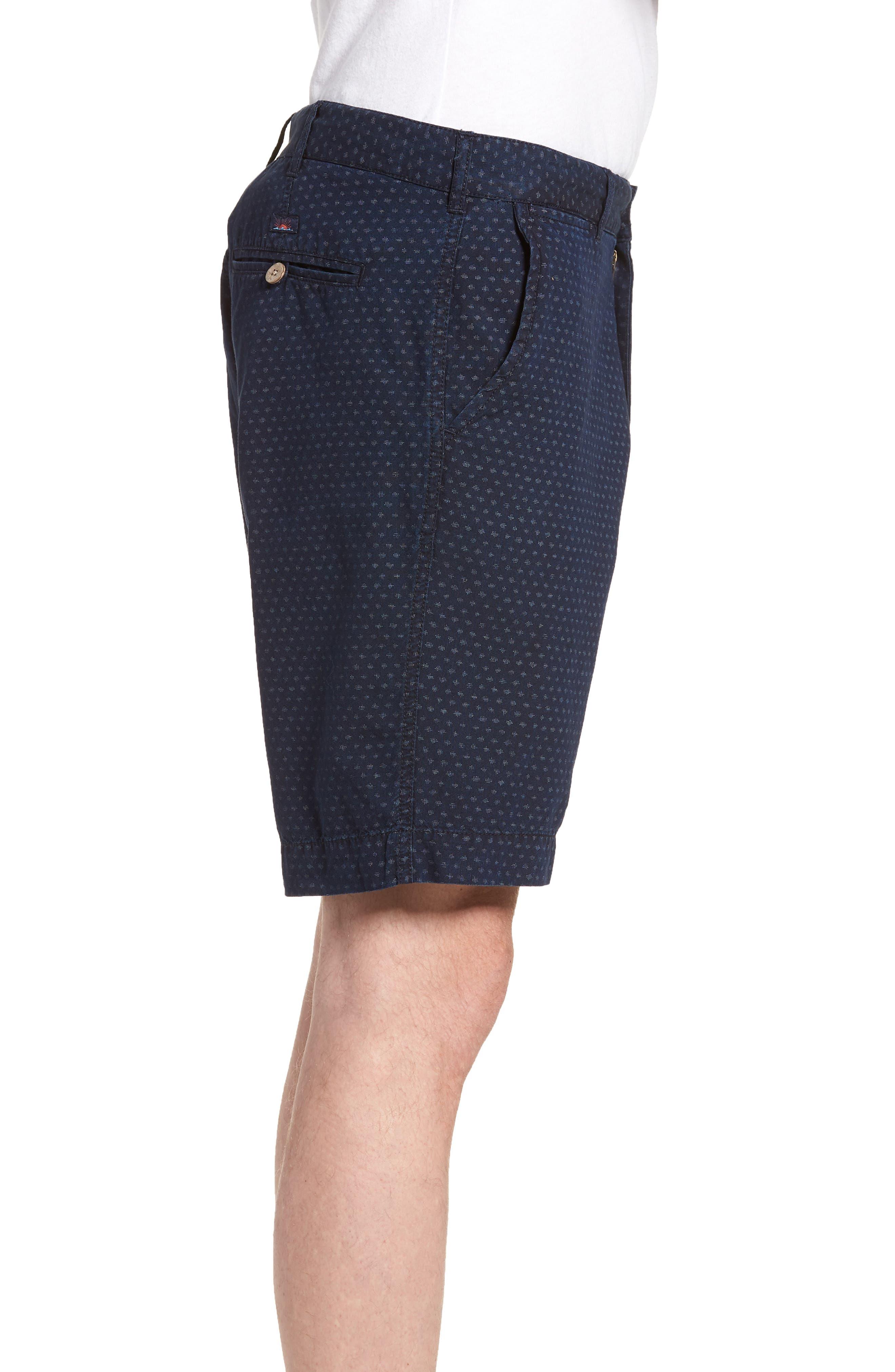 Asbury Shorts,                             Alternate thumbnail 3, color,                             Indigo Fleck