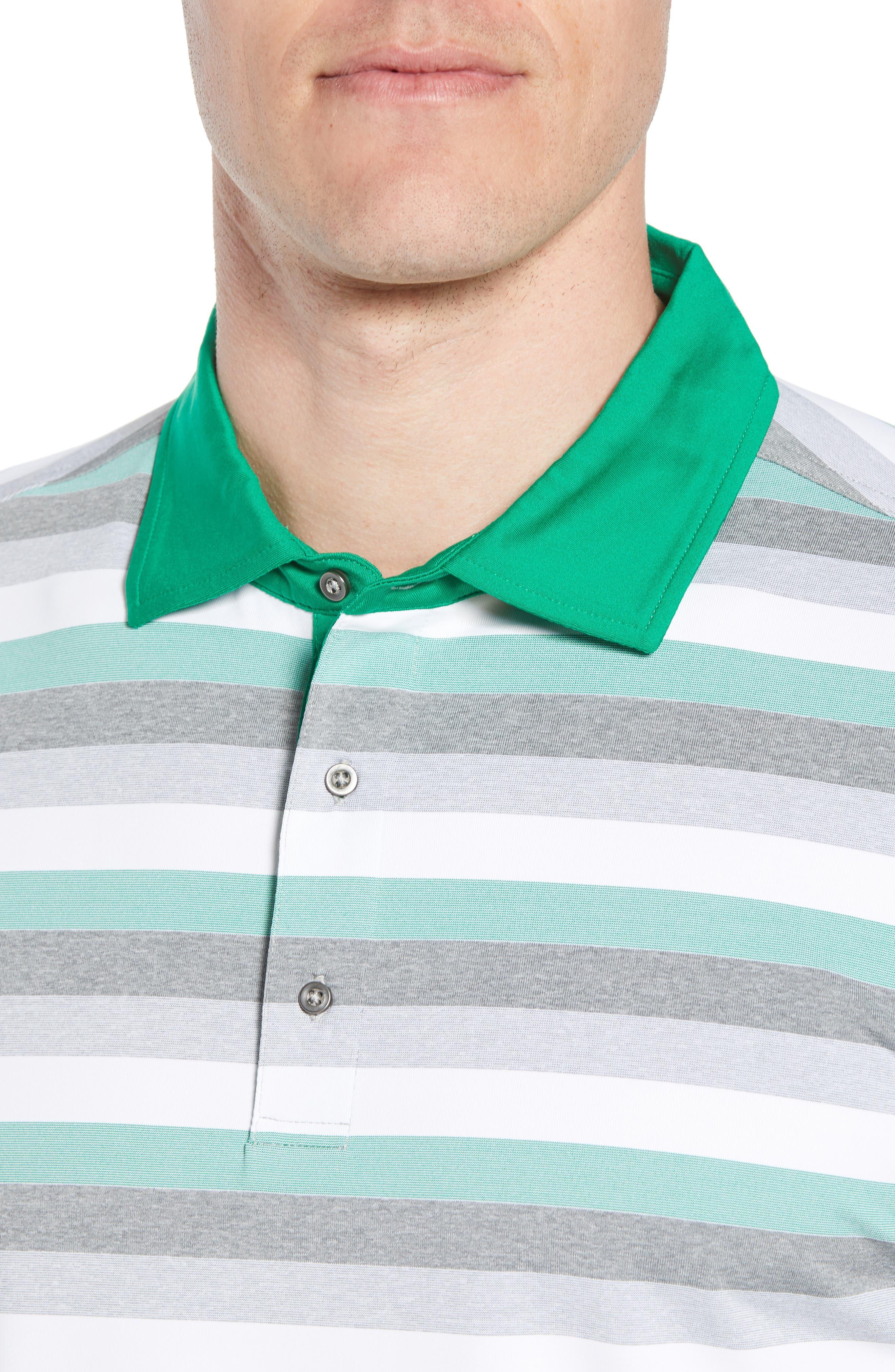 Tech Baylor Stripe Jersey Polo,                             Alternate thumbnail 4, color,                             Kelly