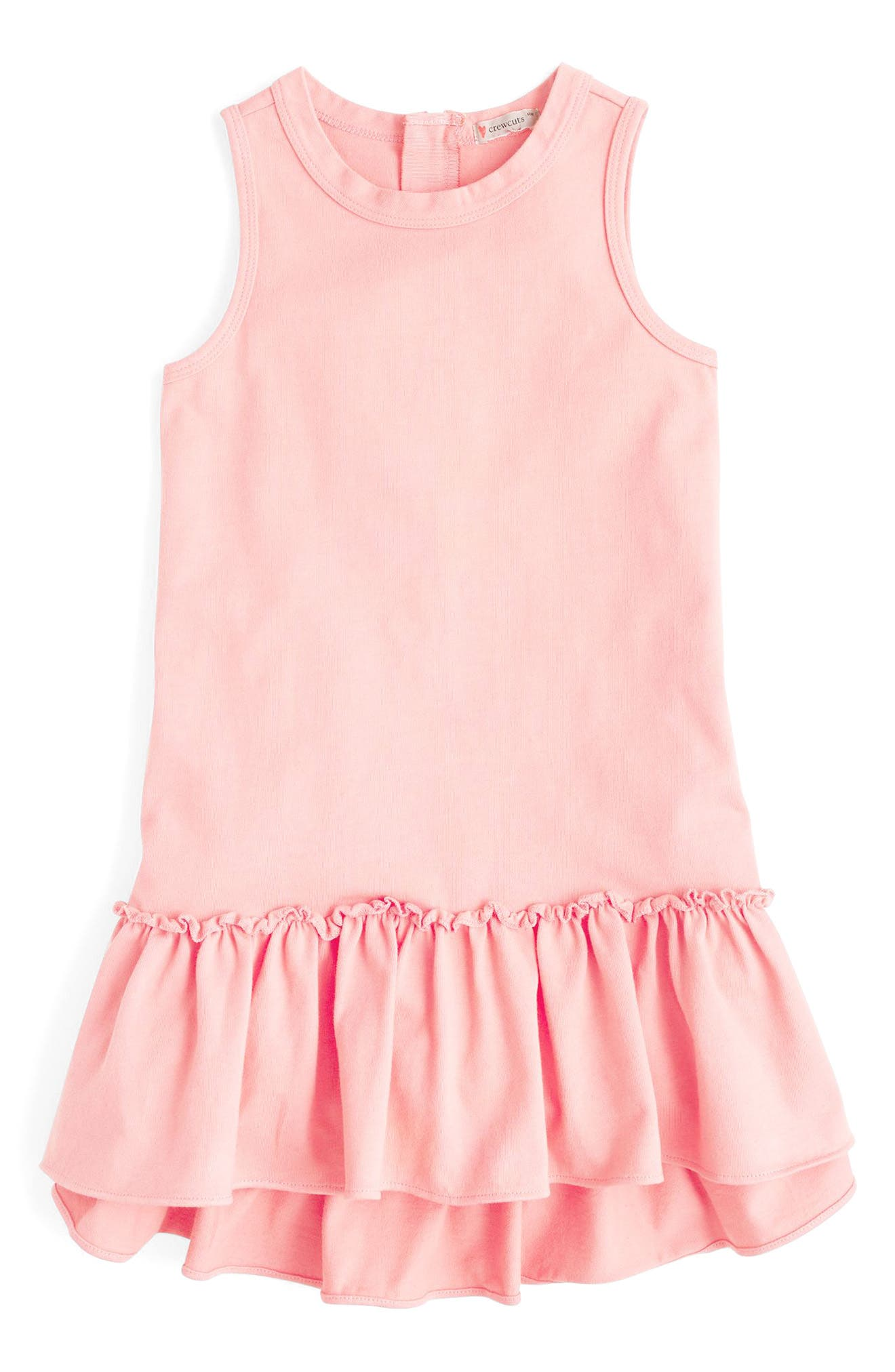 Billy Ruffle Hem Knit Dress,                             Main thumbnail 1, color,                             Sunwashed Pink