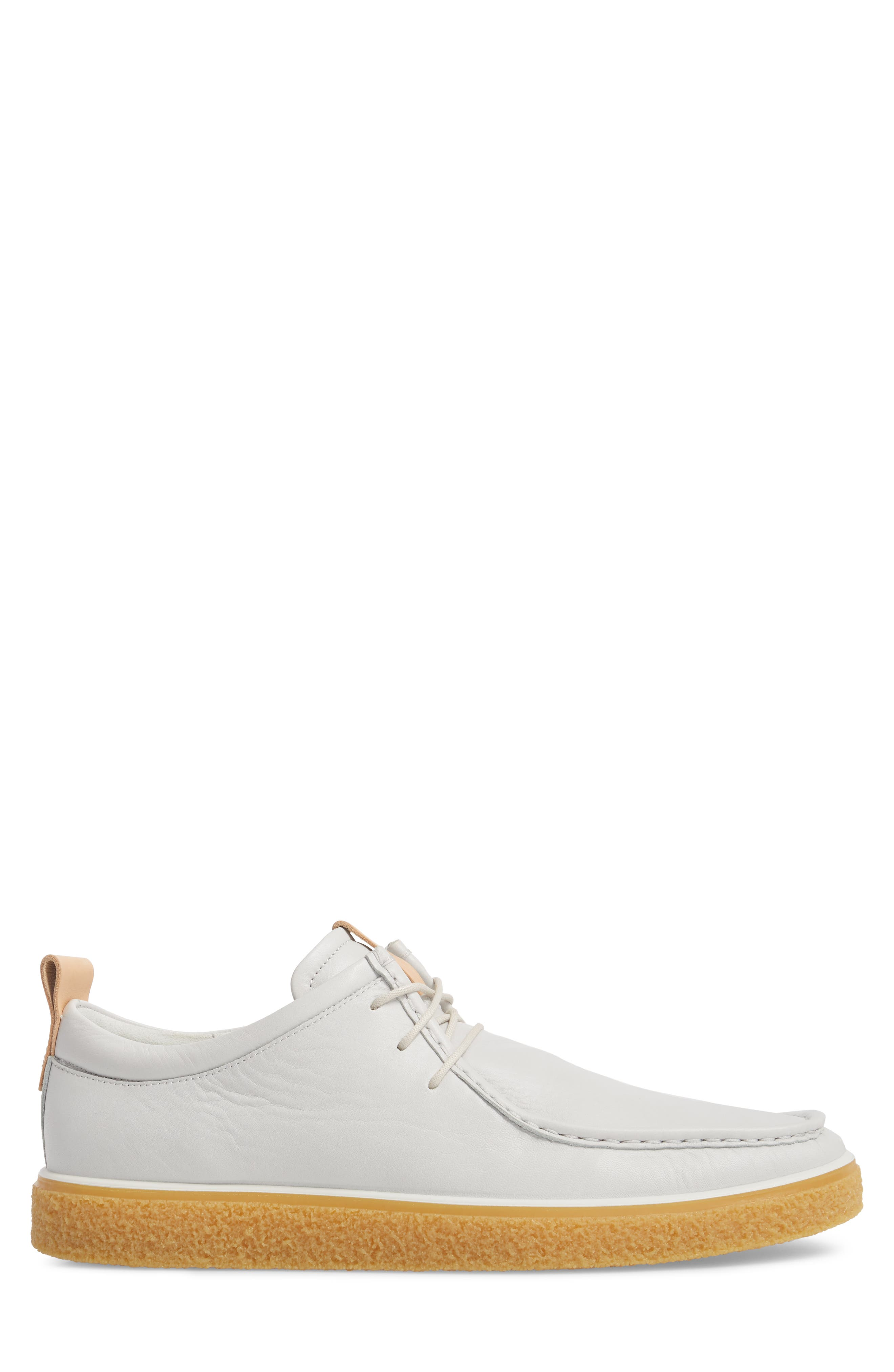 Crepetray Moc Toe Low Chukka Boot,                             Alternate thumbnail 3, color,                             Off White Leather