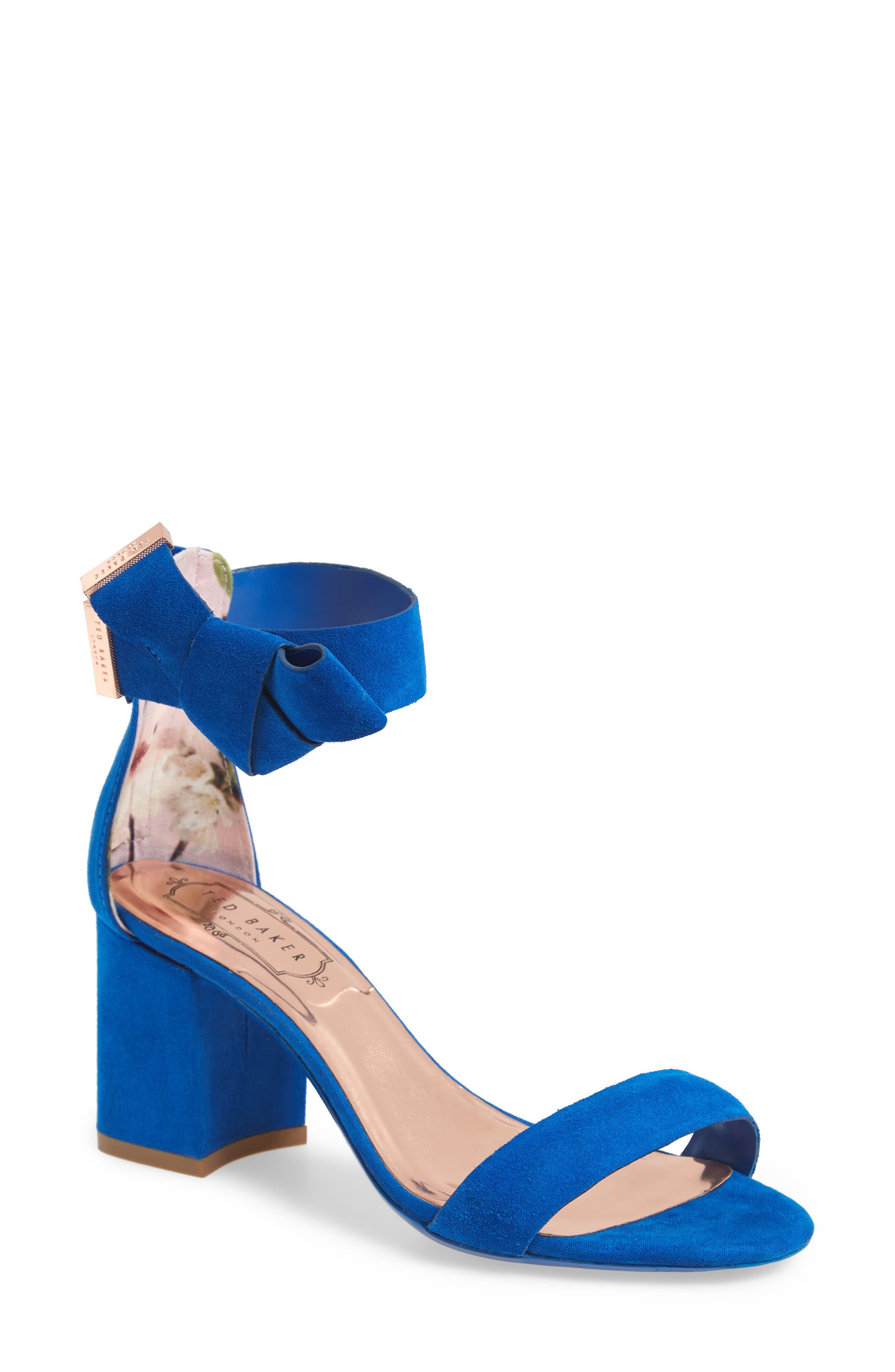 Kerrias Block Heel Sandal,                         Main,                         color, Blue Suede