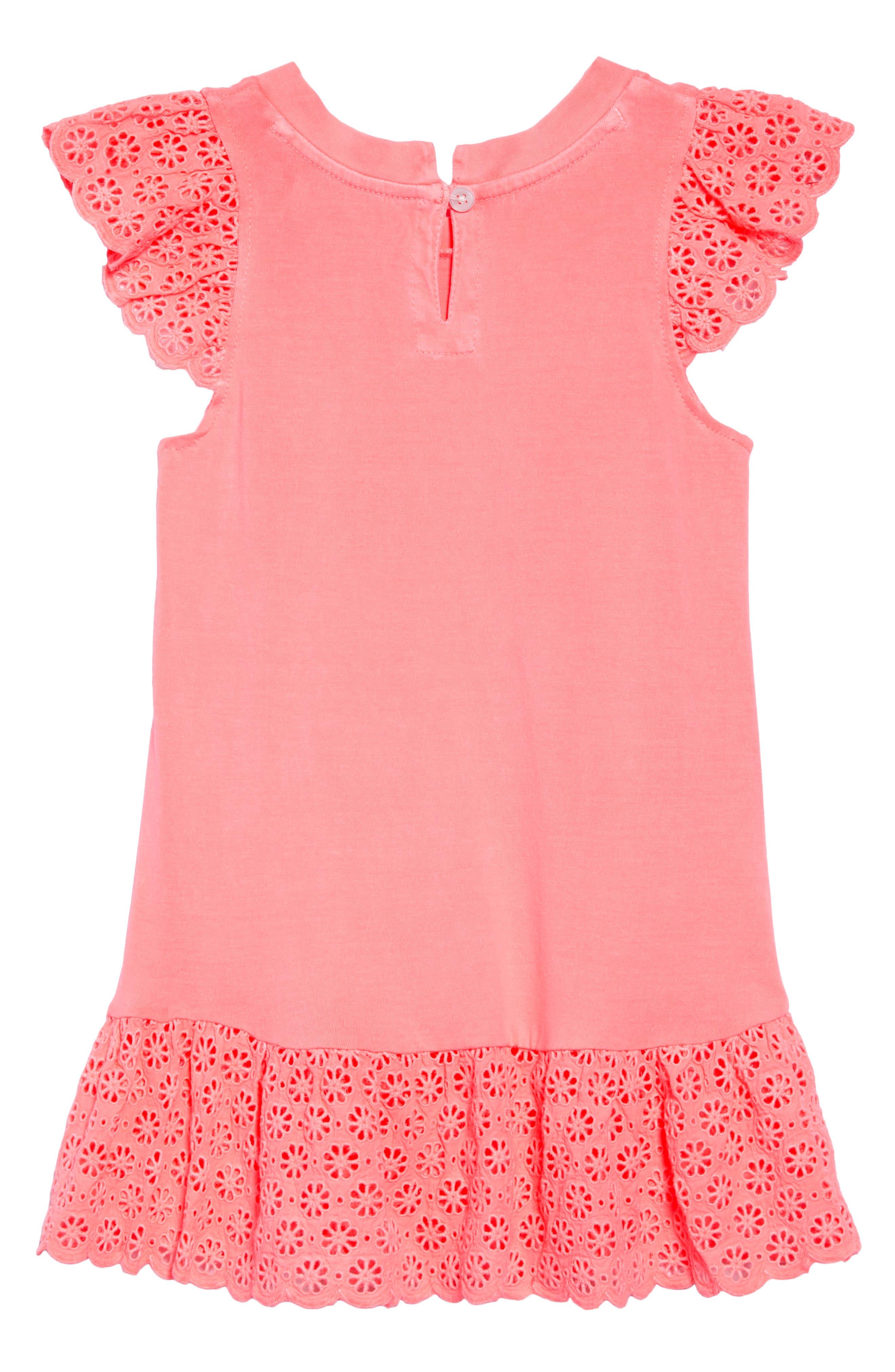 Ashley Dress,                             Alternate thumbnail 2, color,                             Neon Coral