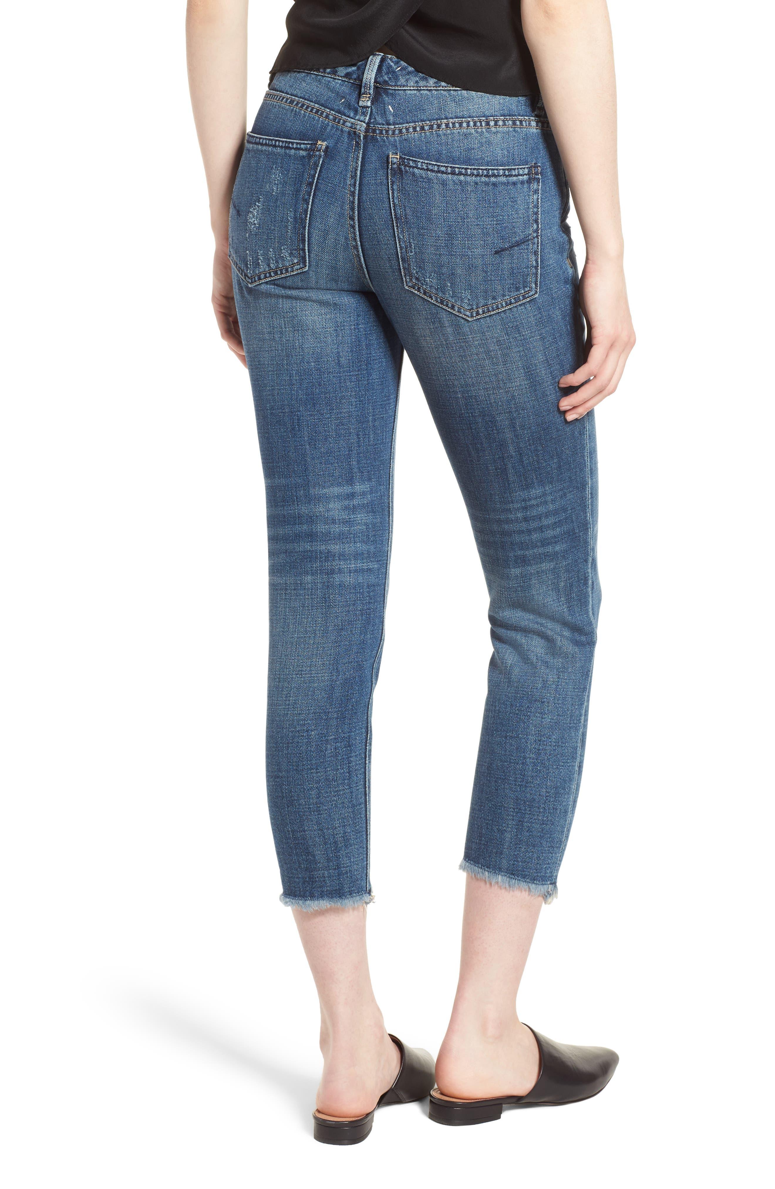 Vale Slant Fray Hem Jeans,                             Alternate thumbnail 2, color,                             Lowell