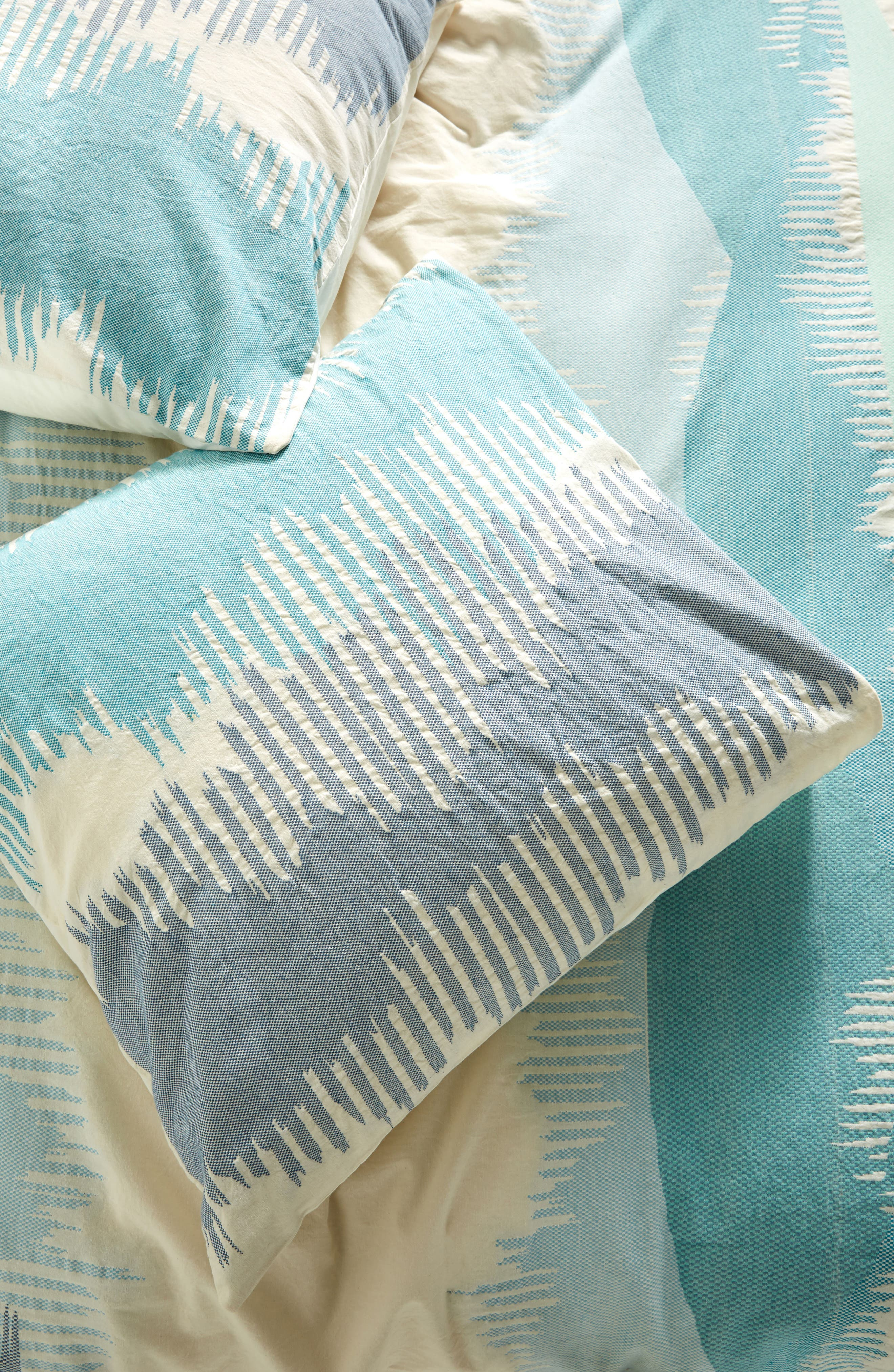Woven Calera Euro Sham,                         Main,                         color, Blue
