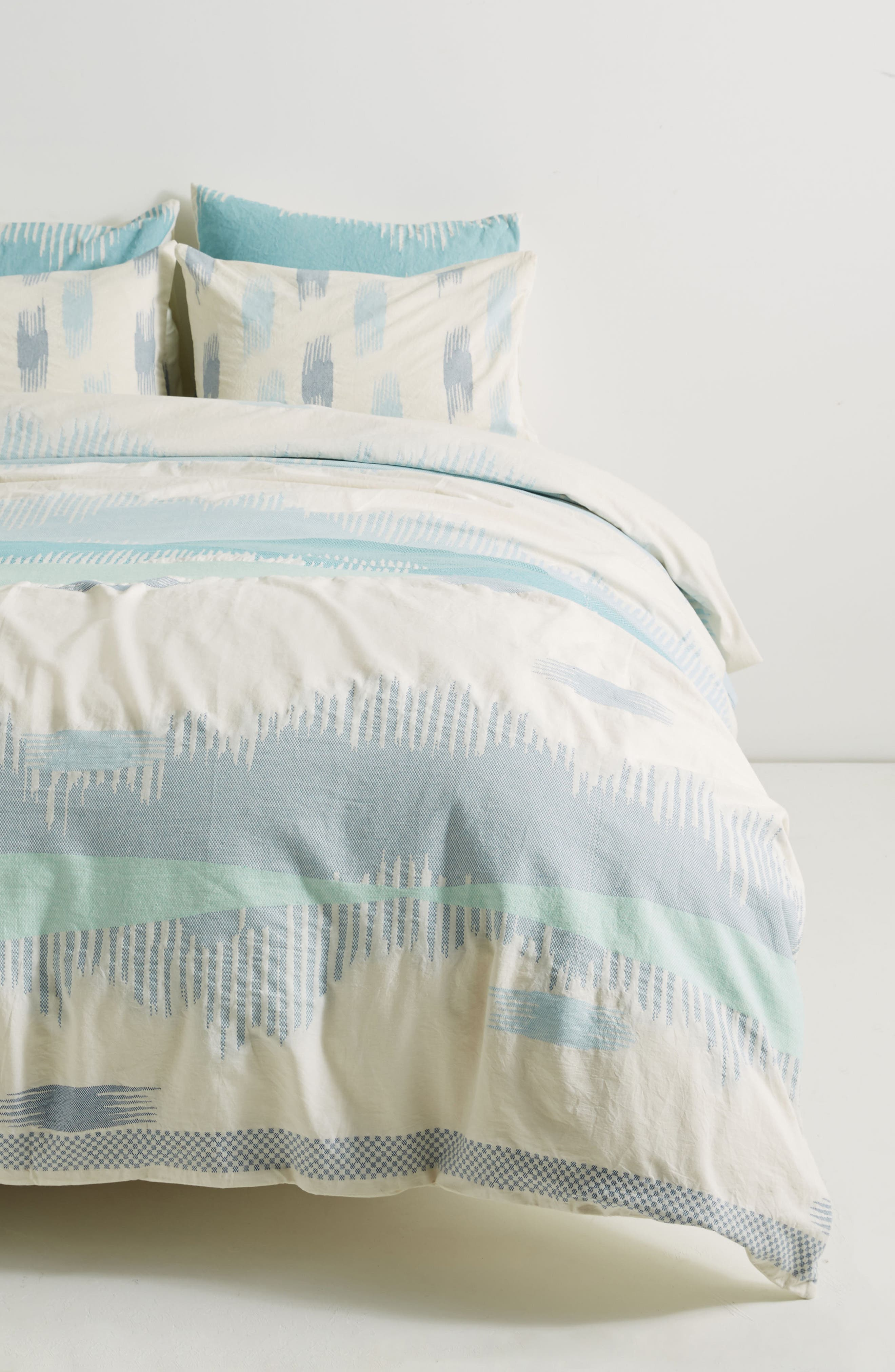 Woven Calera Duvet Cover,                             Main thumbnail 1, color,                             Blue