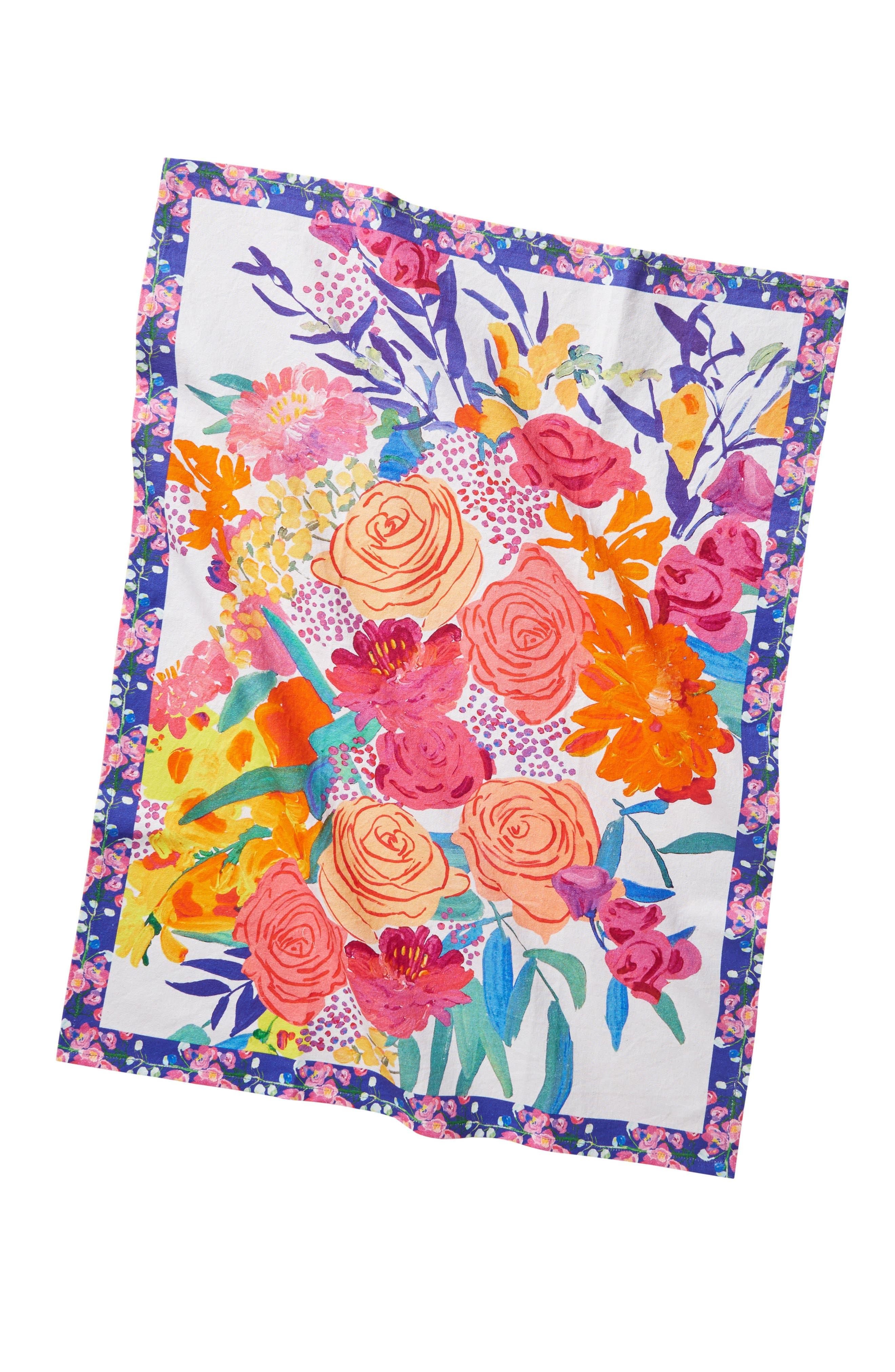 Alternate Image 3  - Anthropologie Paint + Petals Dishtowel