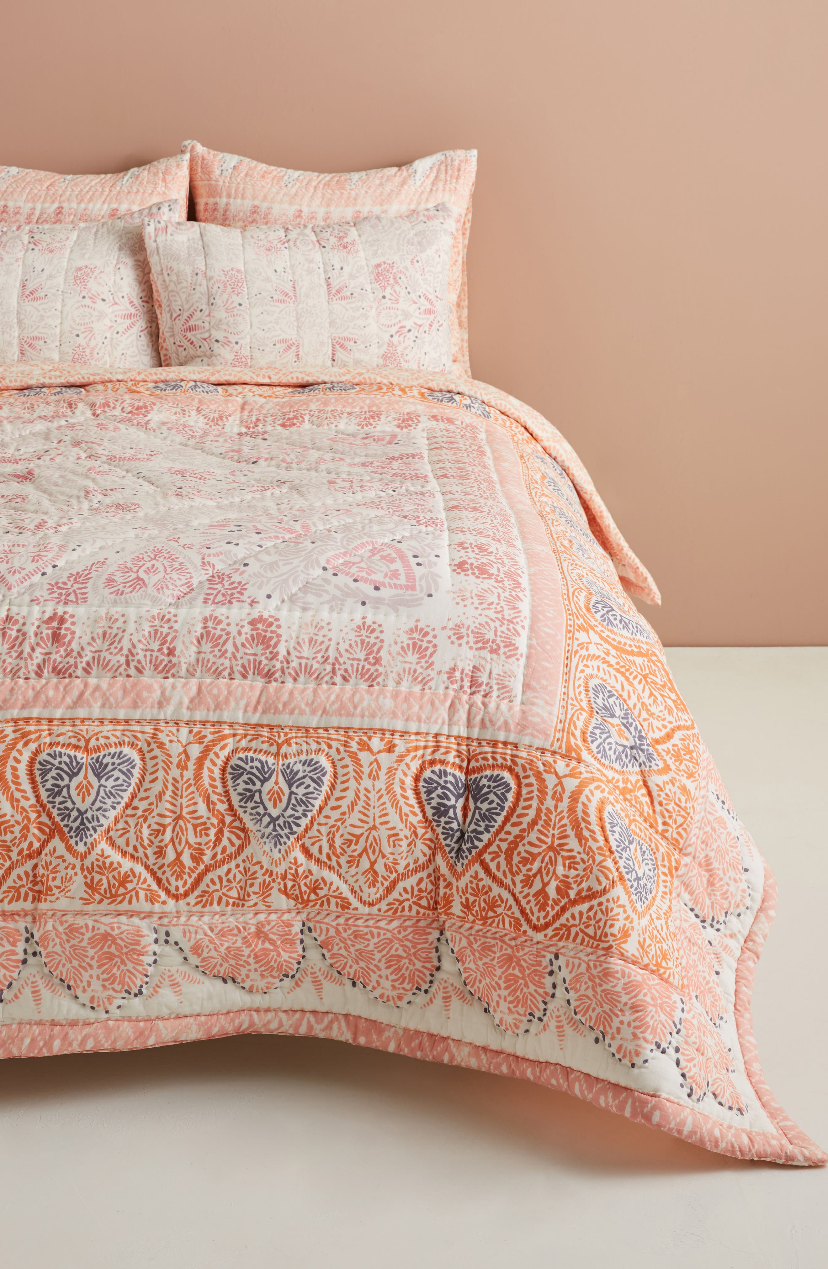 Josee Quilt,                         Main,                         color, Coral