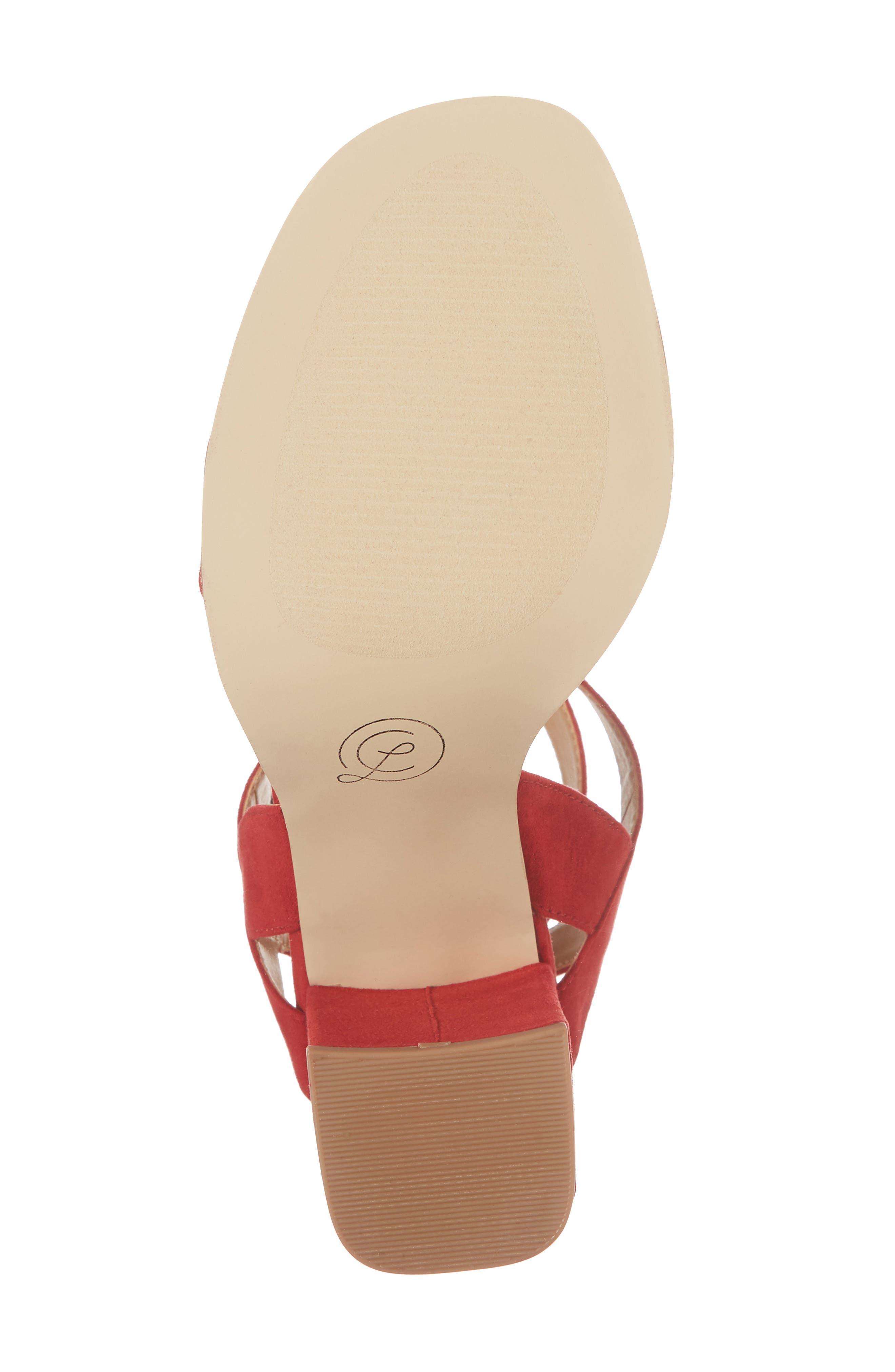 Stassi Block Heel Sandal,                             Alternate thumbnail 6, color,                             Red