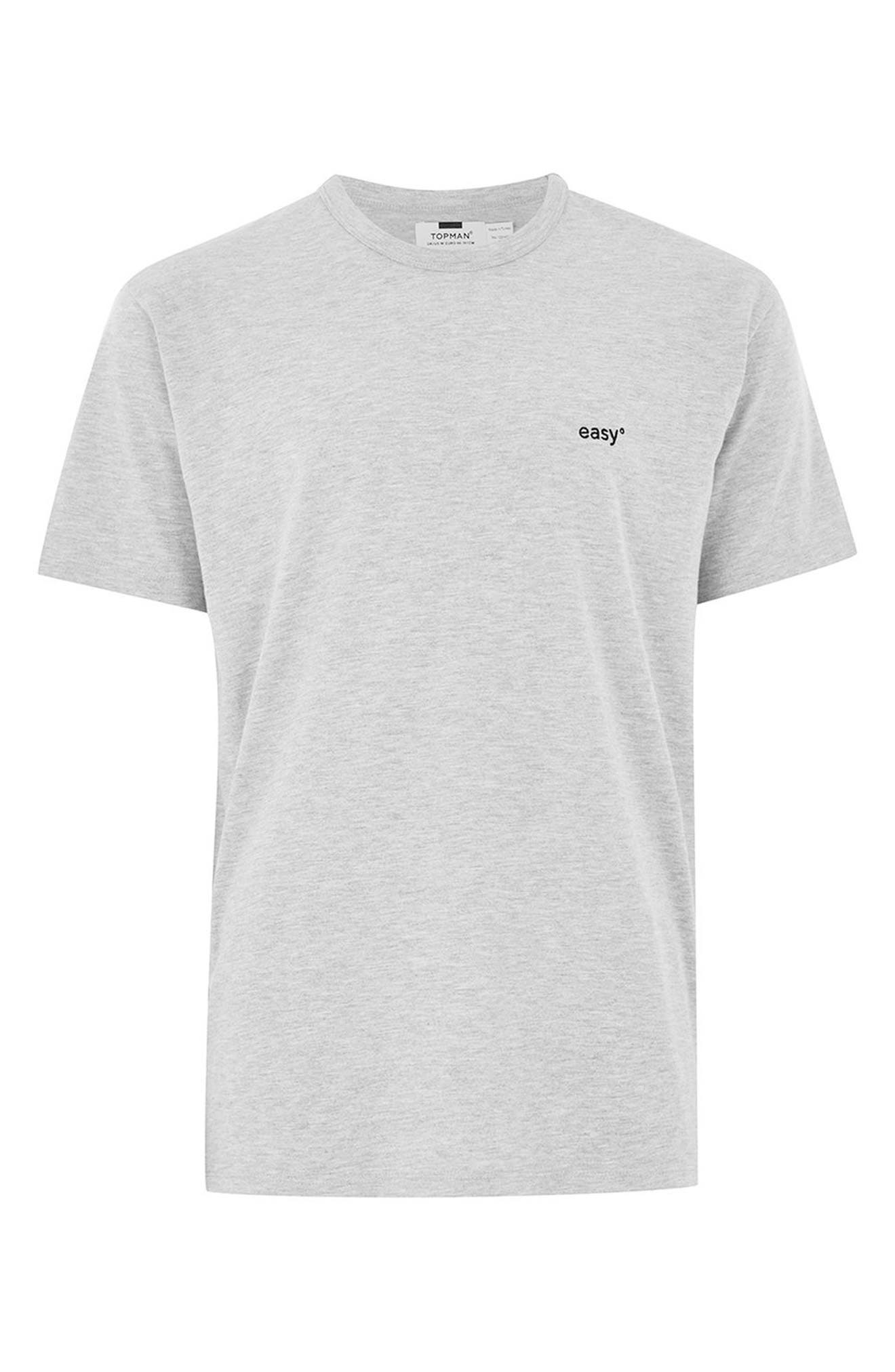 Oversize Embroidered Easy T-Shirt,                             Alternate thumbnail 4, color,                             Grey