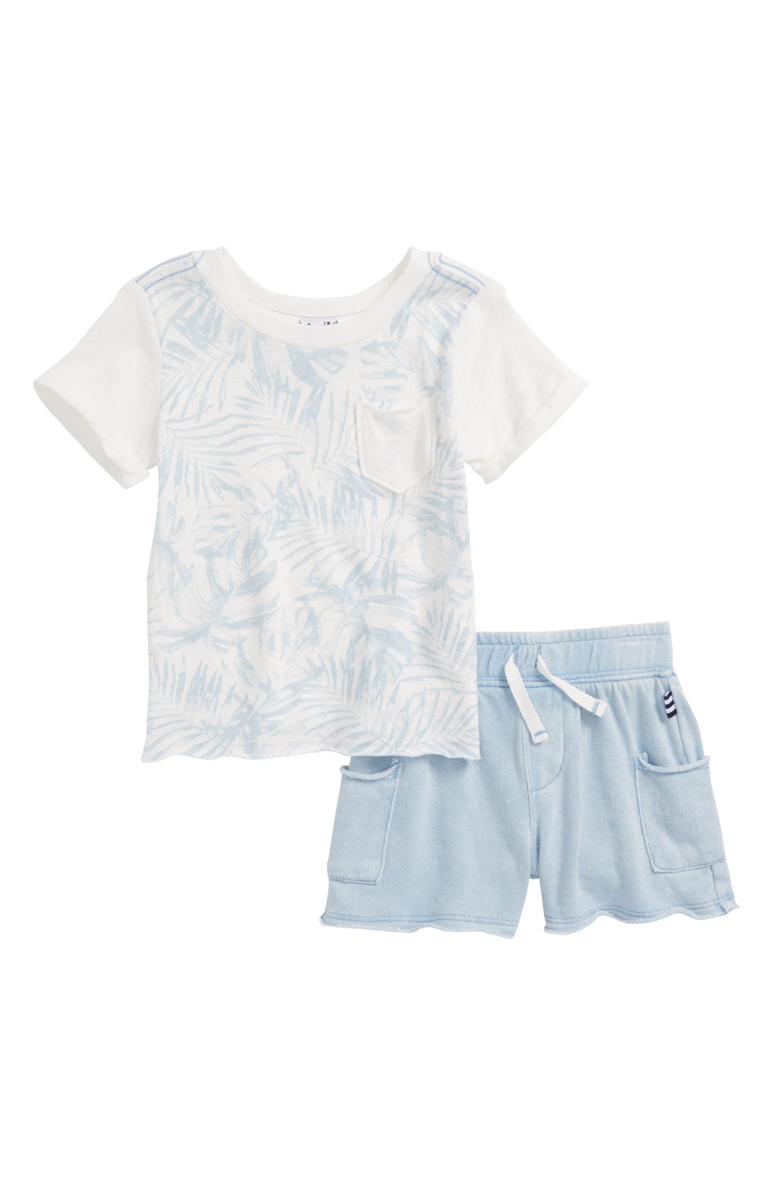 Pocket T-Shirt & Shorts Set,                         Main,                         color, Full Sail