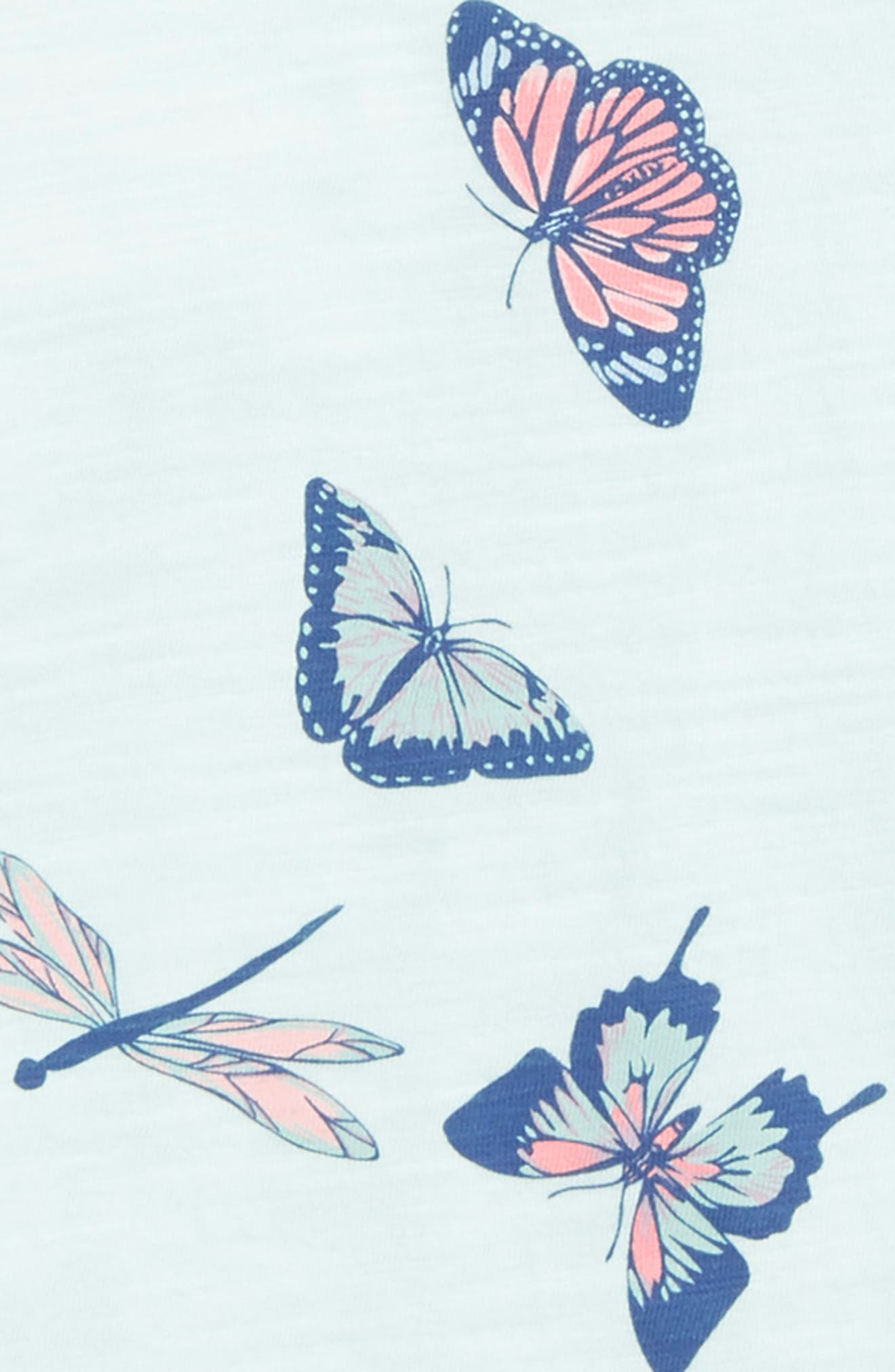 Butterfly Graphic Tee,                             Alternate thumbnail 2, color,                             Blue