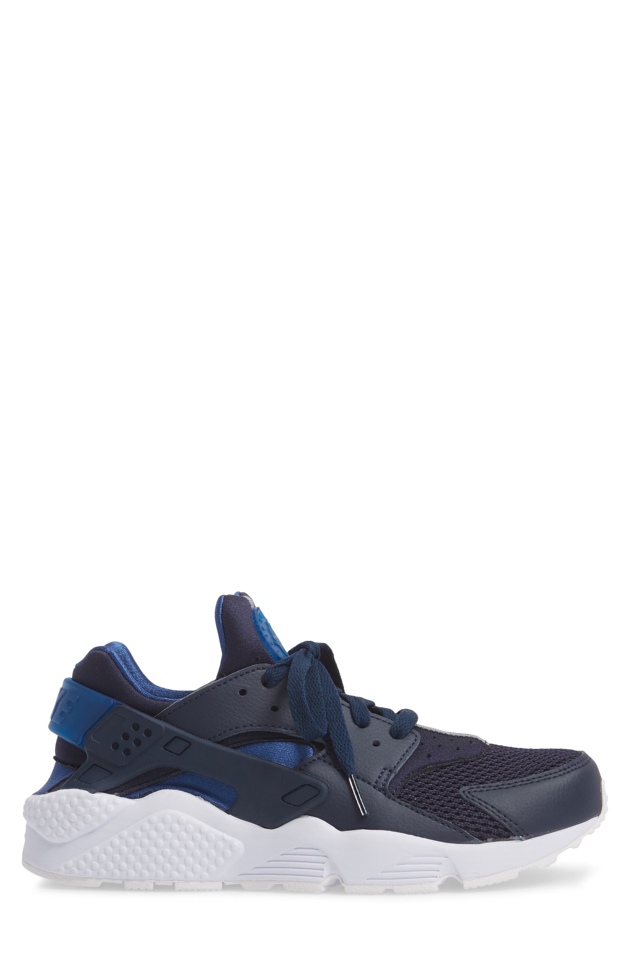 'Air Huarache' Sneaker,                             Alternate thumbnail 5, color,                             Obsidian/ Gym Blue