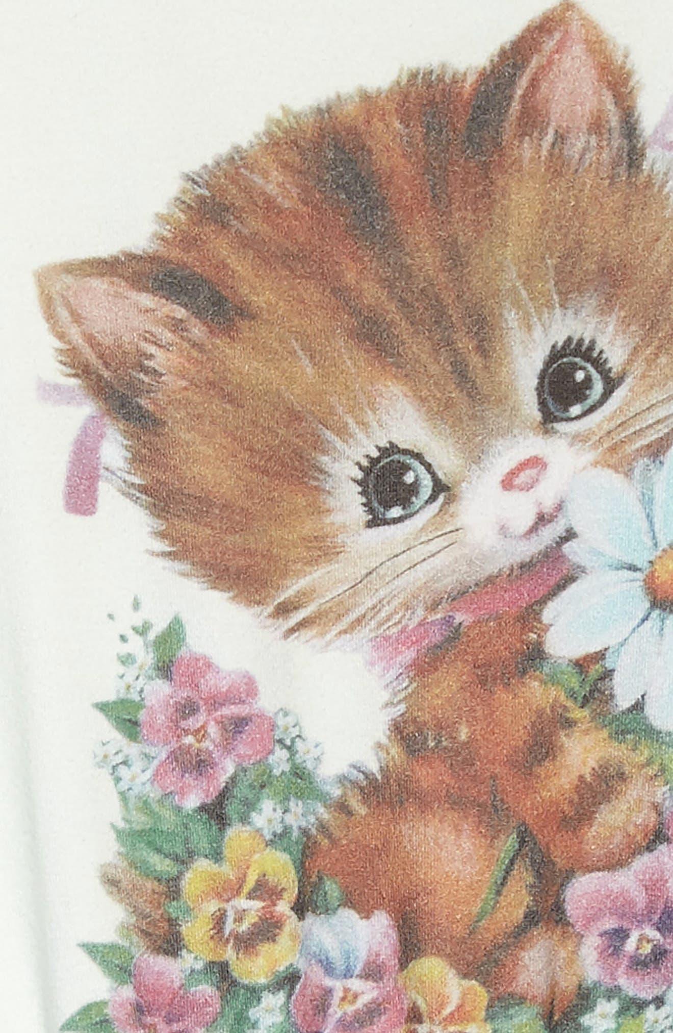 Kitty Kat Circus Dress,                             Alternate thumbnail 3, color,                             Teal