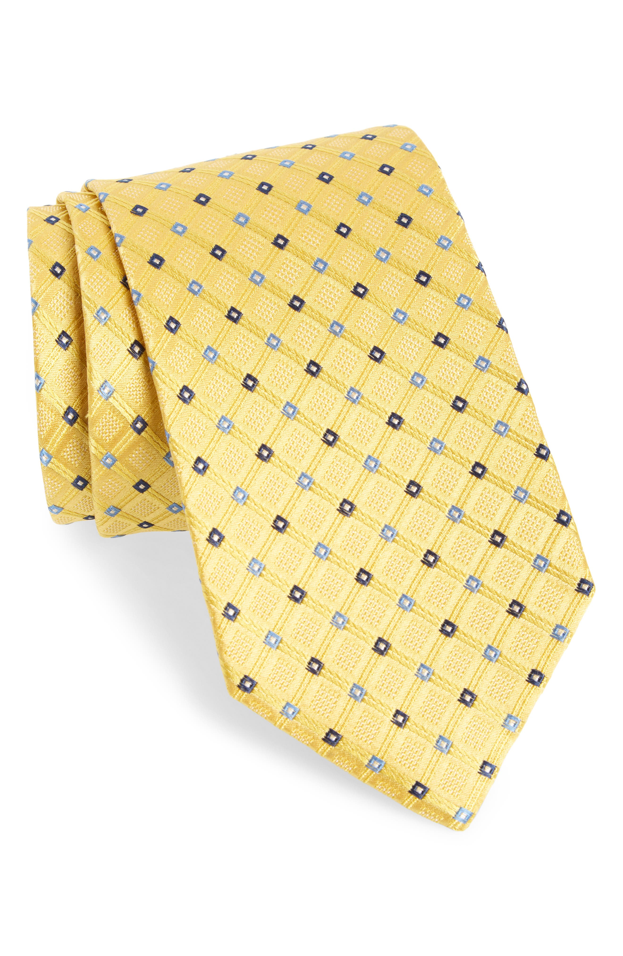 Nordstrom Men's Shop Coventry Check Silk Tie (X-Long)