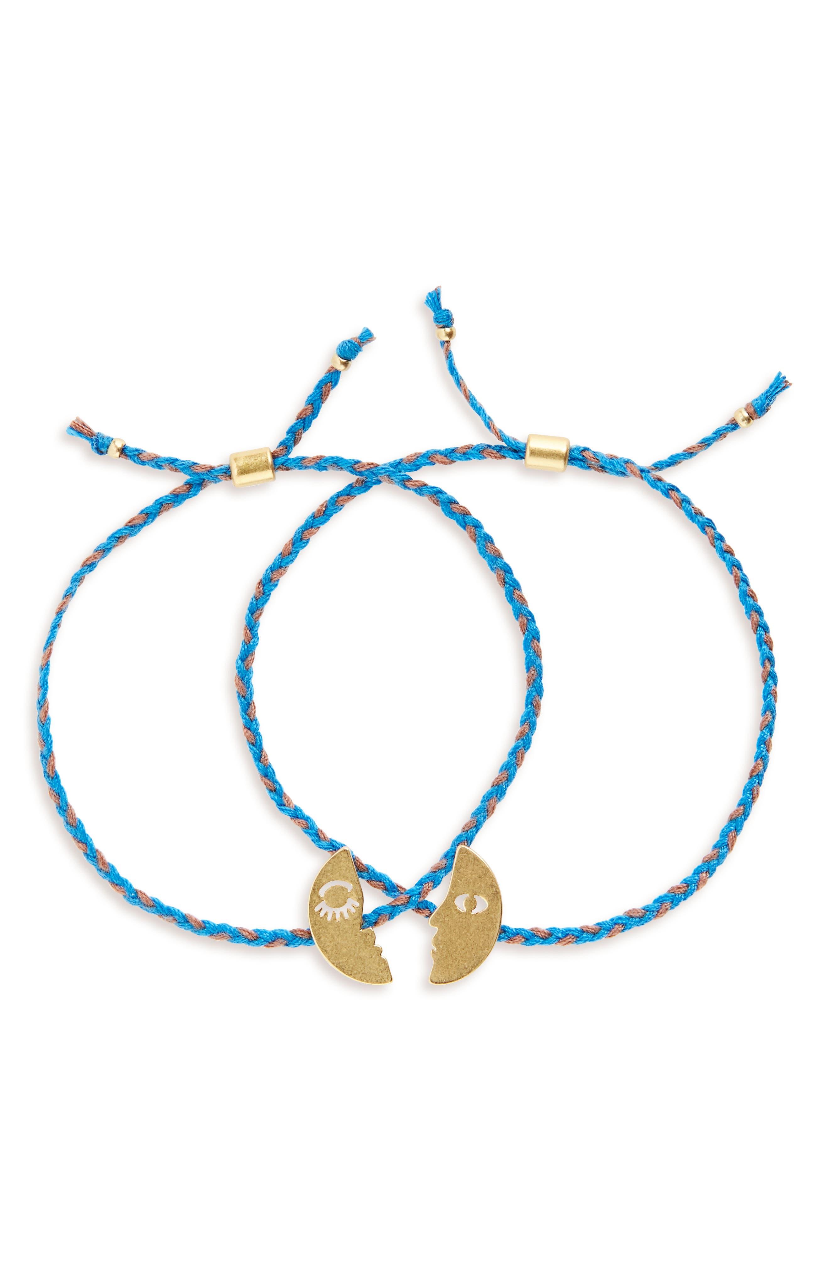 2-Pack Friendship Bracelet,                             Main thumbnail 1, color,                             Faces Set