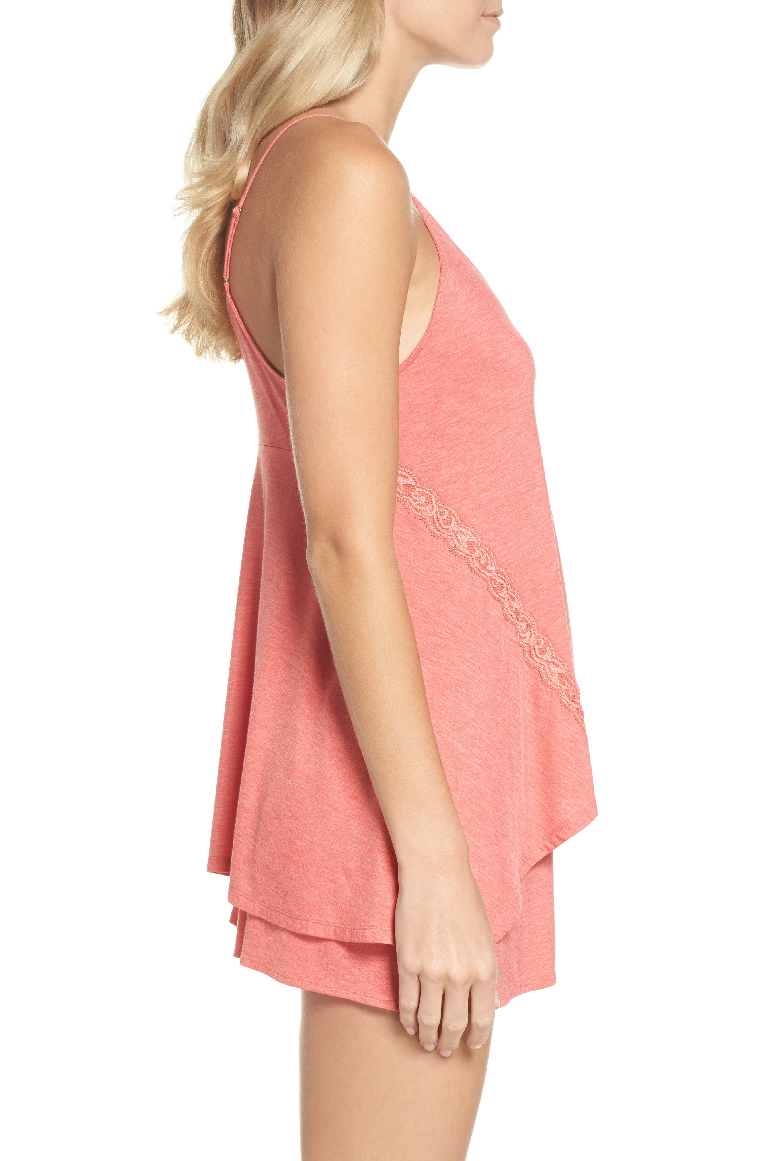 Feathers Essential Camisole,                             Alternate thumbnail 3, color,                             Coral