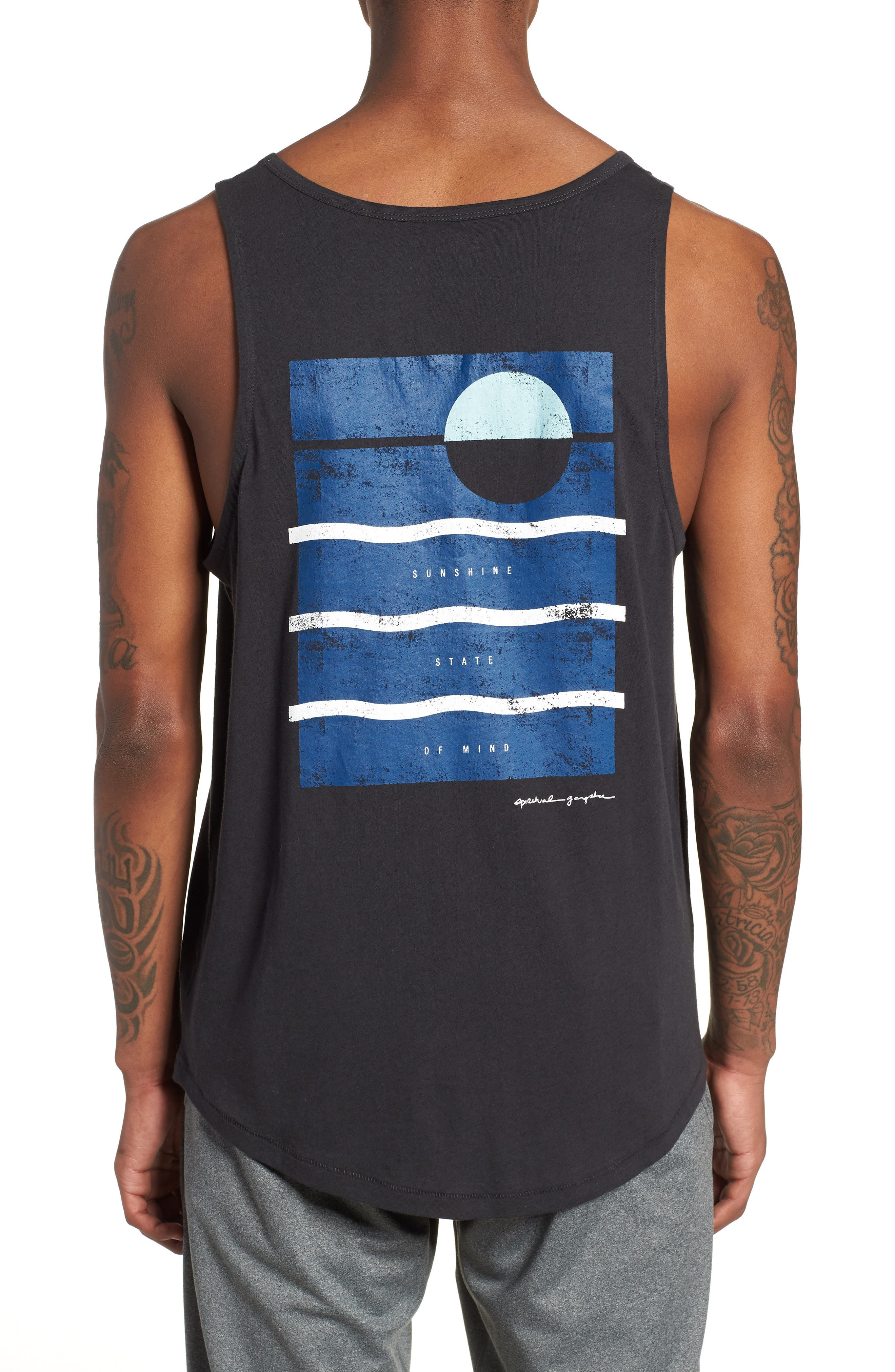 Wave Surf Tank,                             Alternate thumbnail 2, color,                             Vintage Black