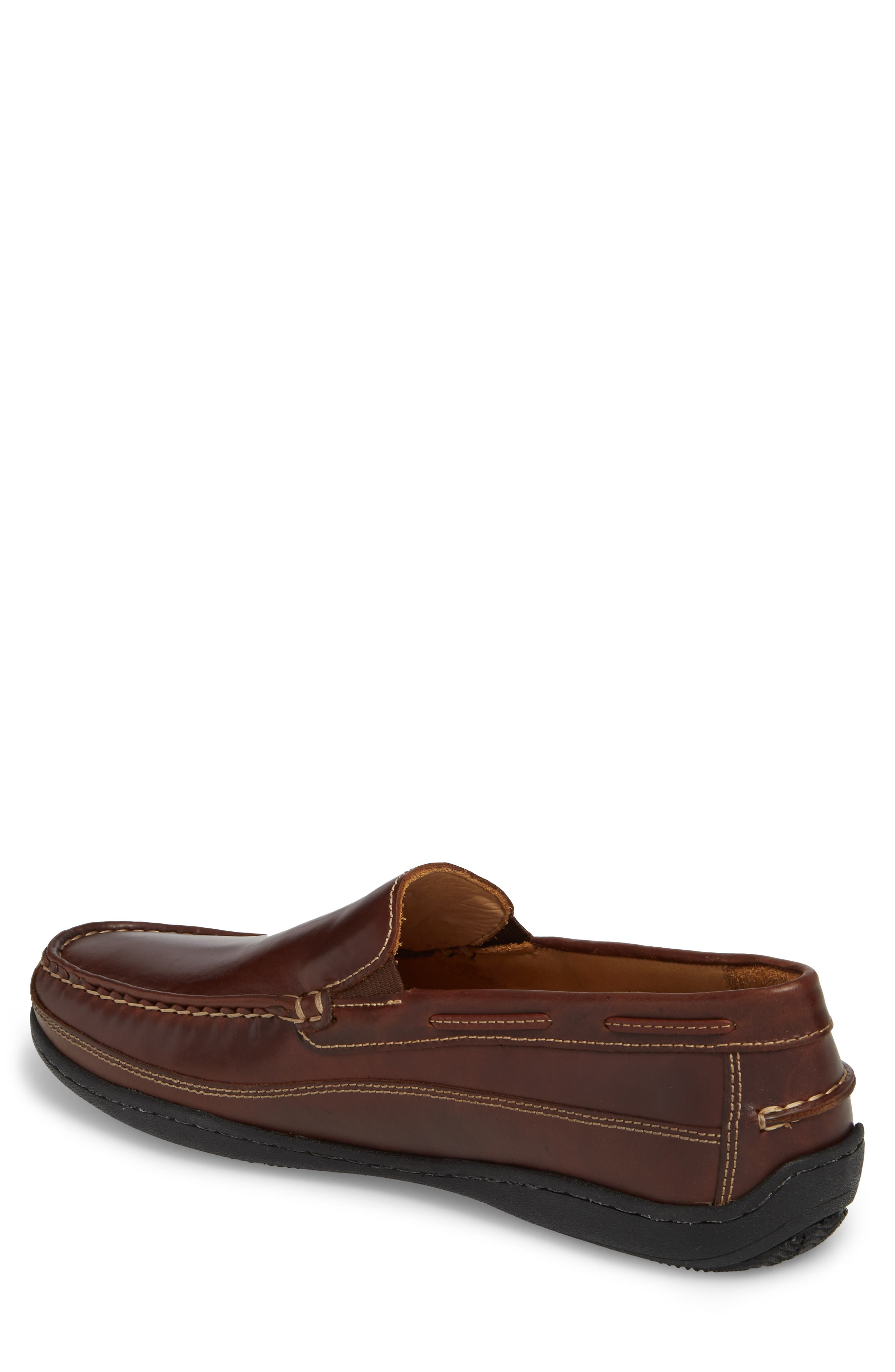 Fowler Moc Toe Loafer,                             Alternate thumbnail 2, color,                             Mahogany Leather