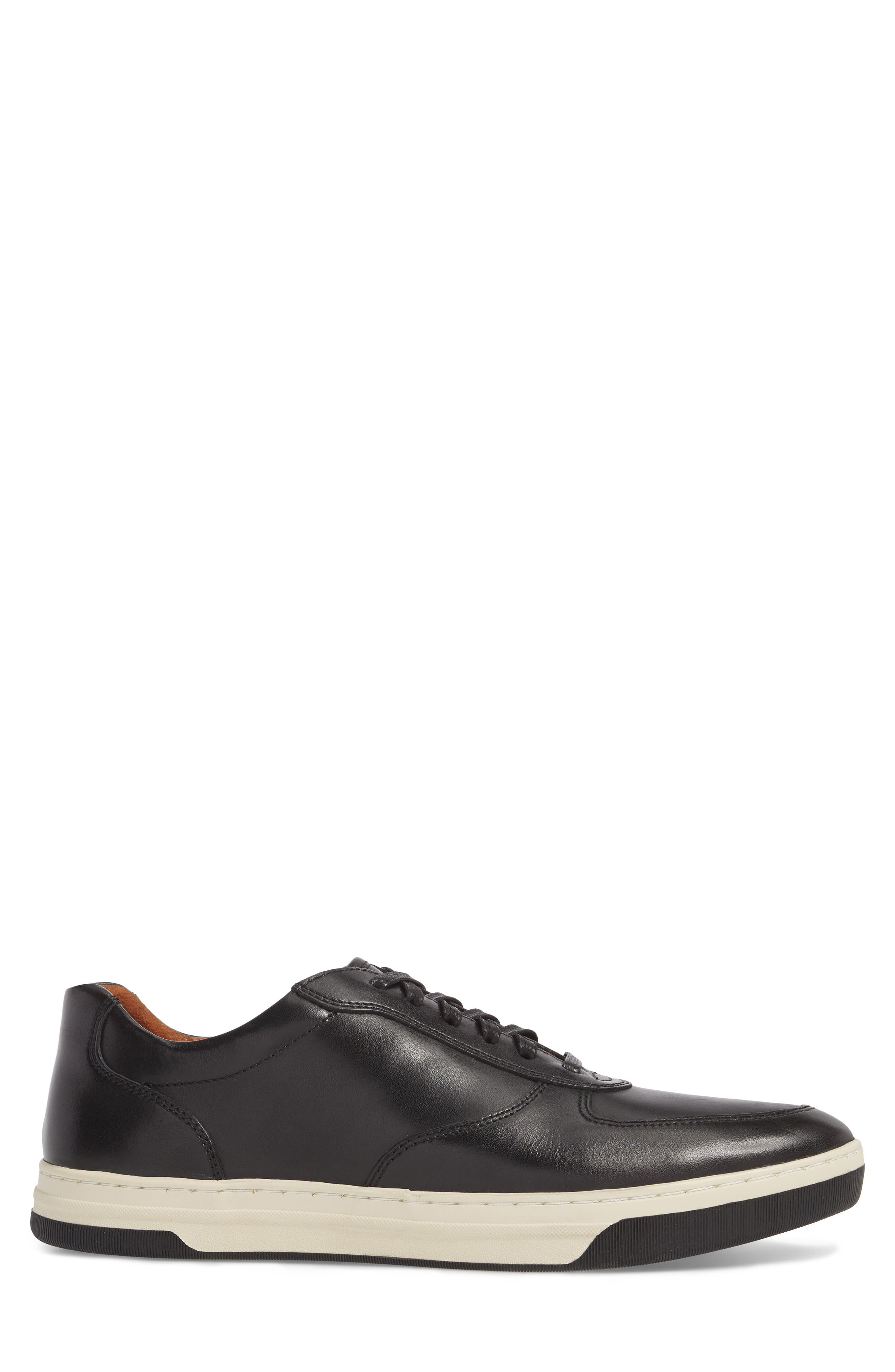 Fenton Low Top Sneaker,                             Alternate thumbnail 3, color,                             Black Leather